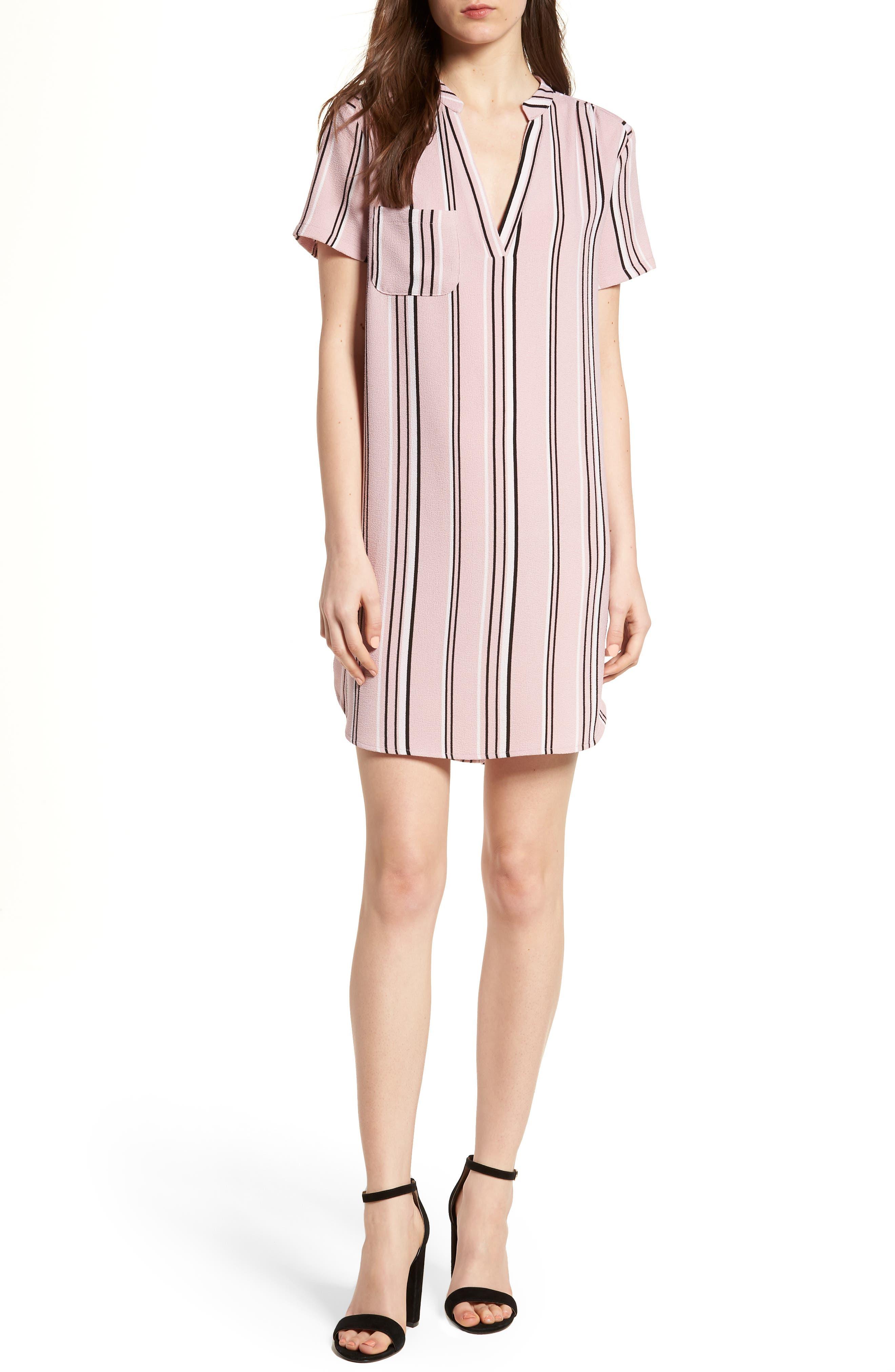 Hailey Crepe Shift Dress,                         Main,                         color, 651