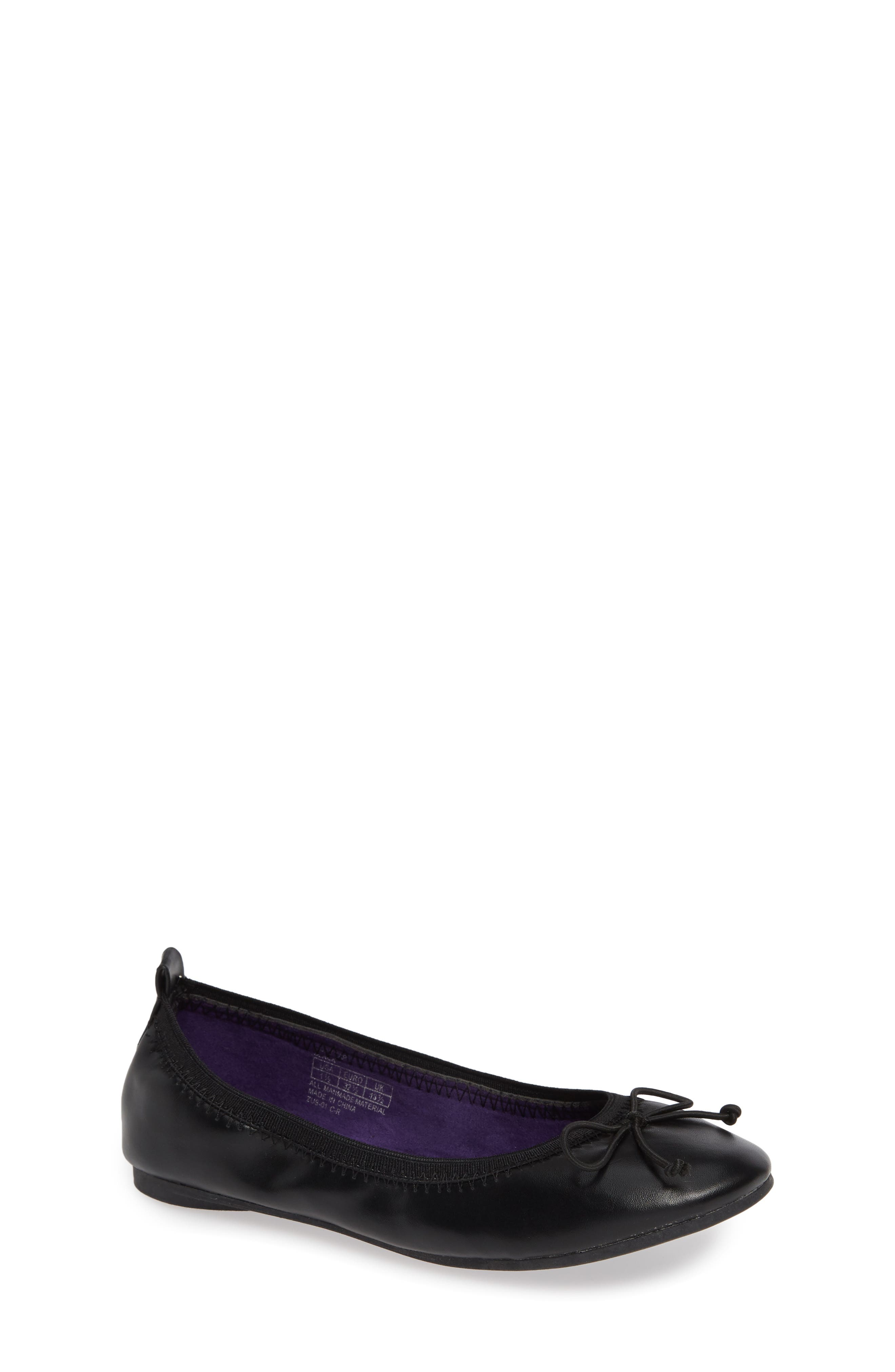 Copy Tap Ballet Flat,                         Main,                         color, BLACK