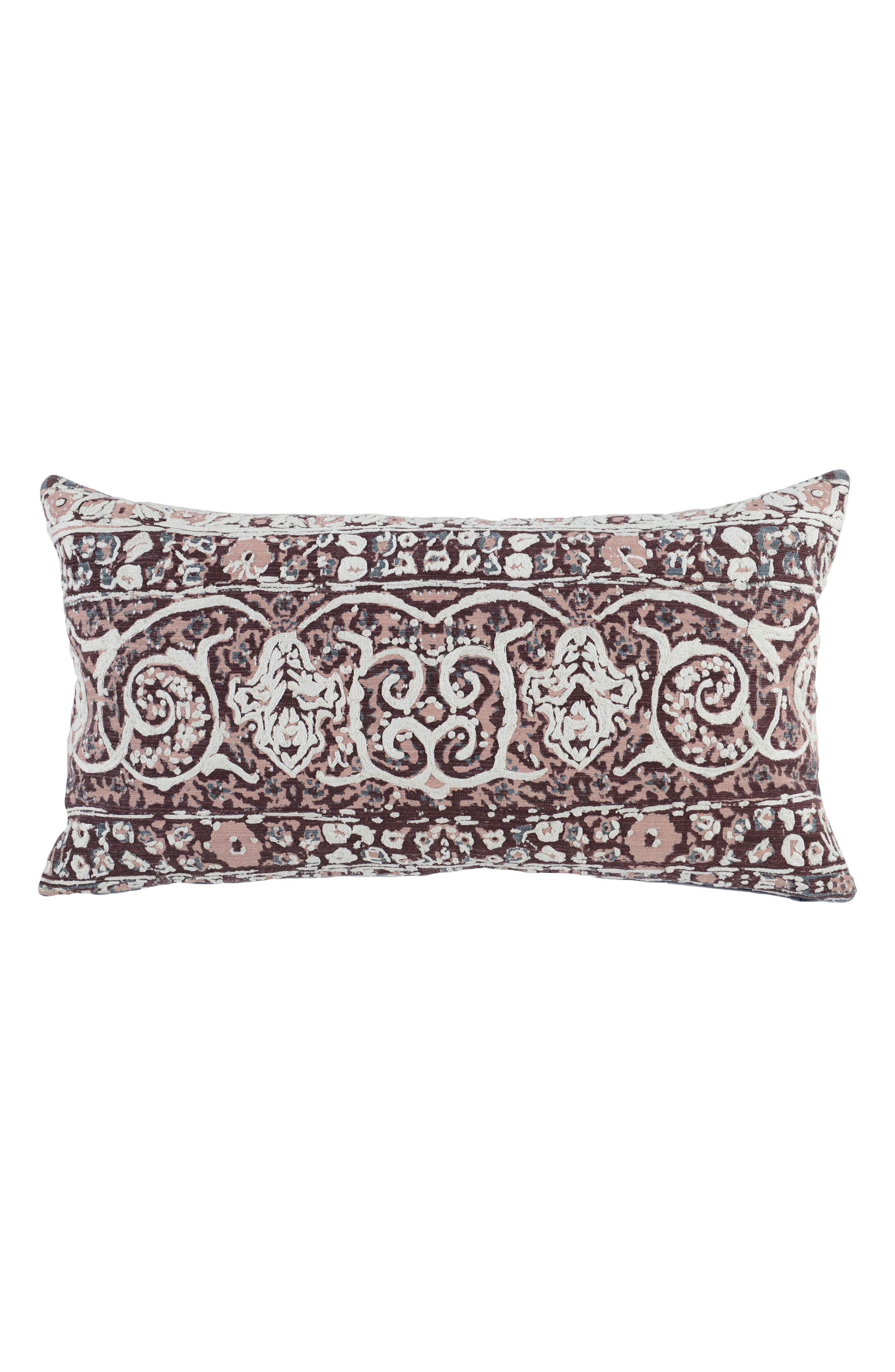 Sintia Accent Pillow,                         Main,                         color, WINE/ BLUSH