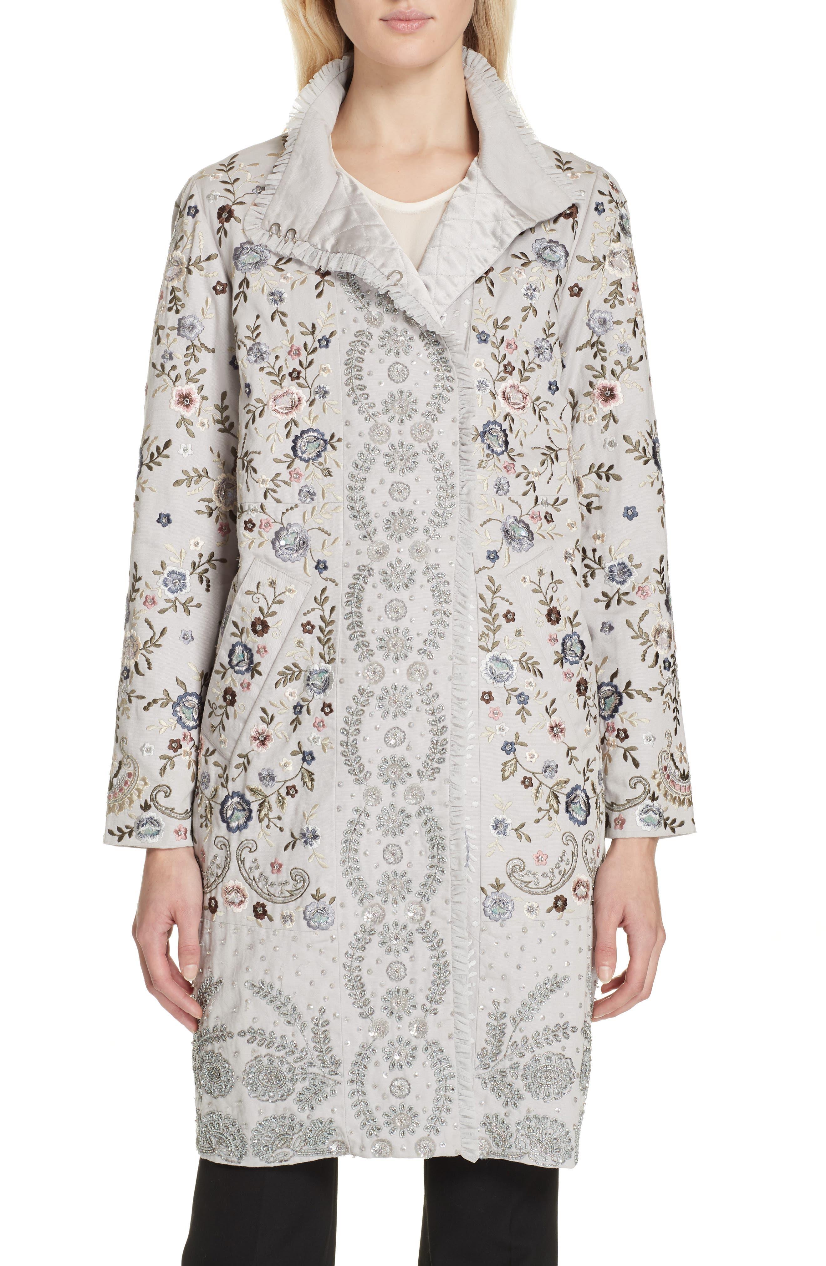 Vintage Coats & Jackets | Retro Coats and Jackets Womens Needle  Thread Ella Embellished Coat Size 6 - Blue $688.00 AT vintagedancer.com