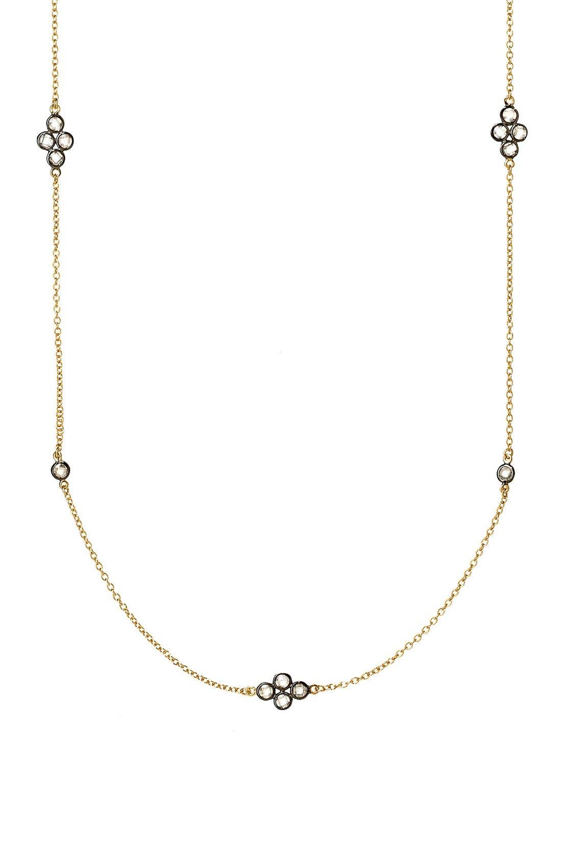 'The Standards' Long Station Necklace,                             Alternate thumbnail 5, color,                             GOLD/ GUNMETAL
