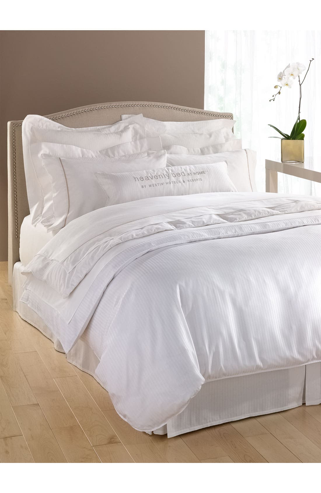 300 Thread Count Luxe Flat Sheet,                             Alternate thumbnail 2, color,                             WHI