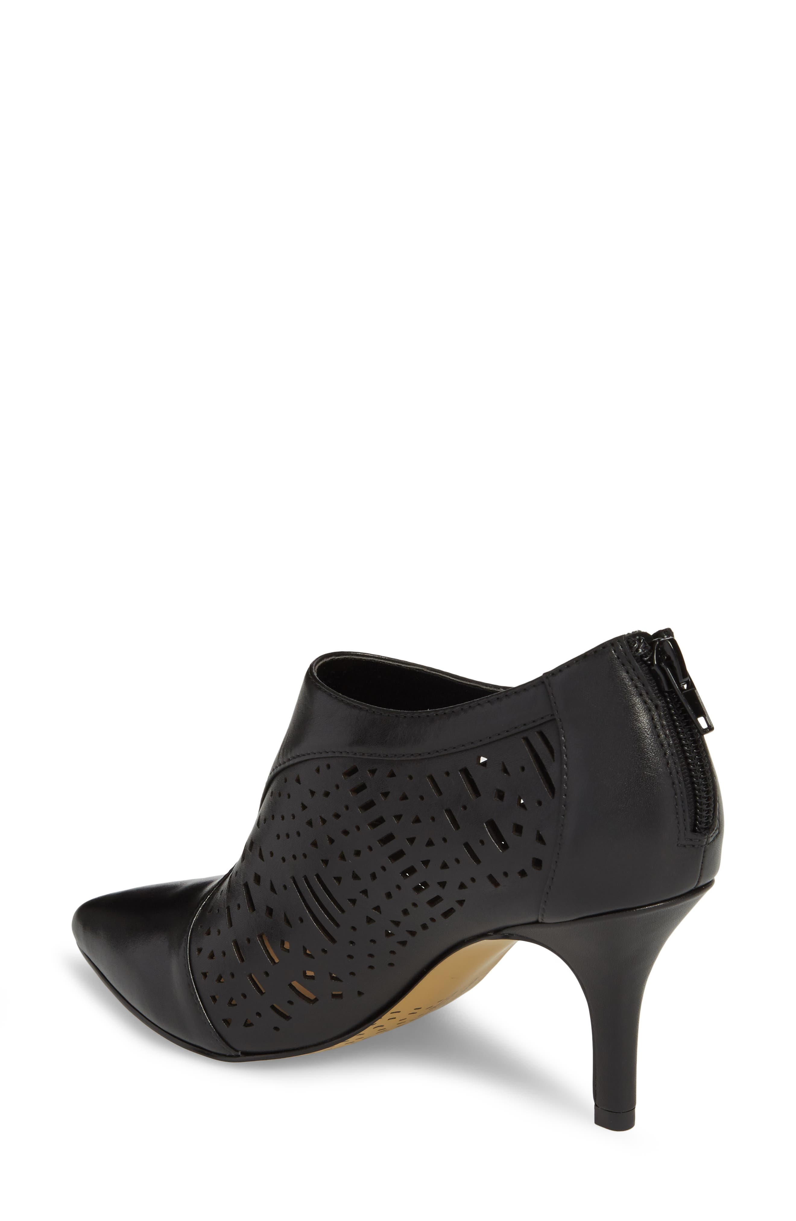 Darlene Laser Perforated Bootie,                             Alternate thumbnail 2, color,                             001