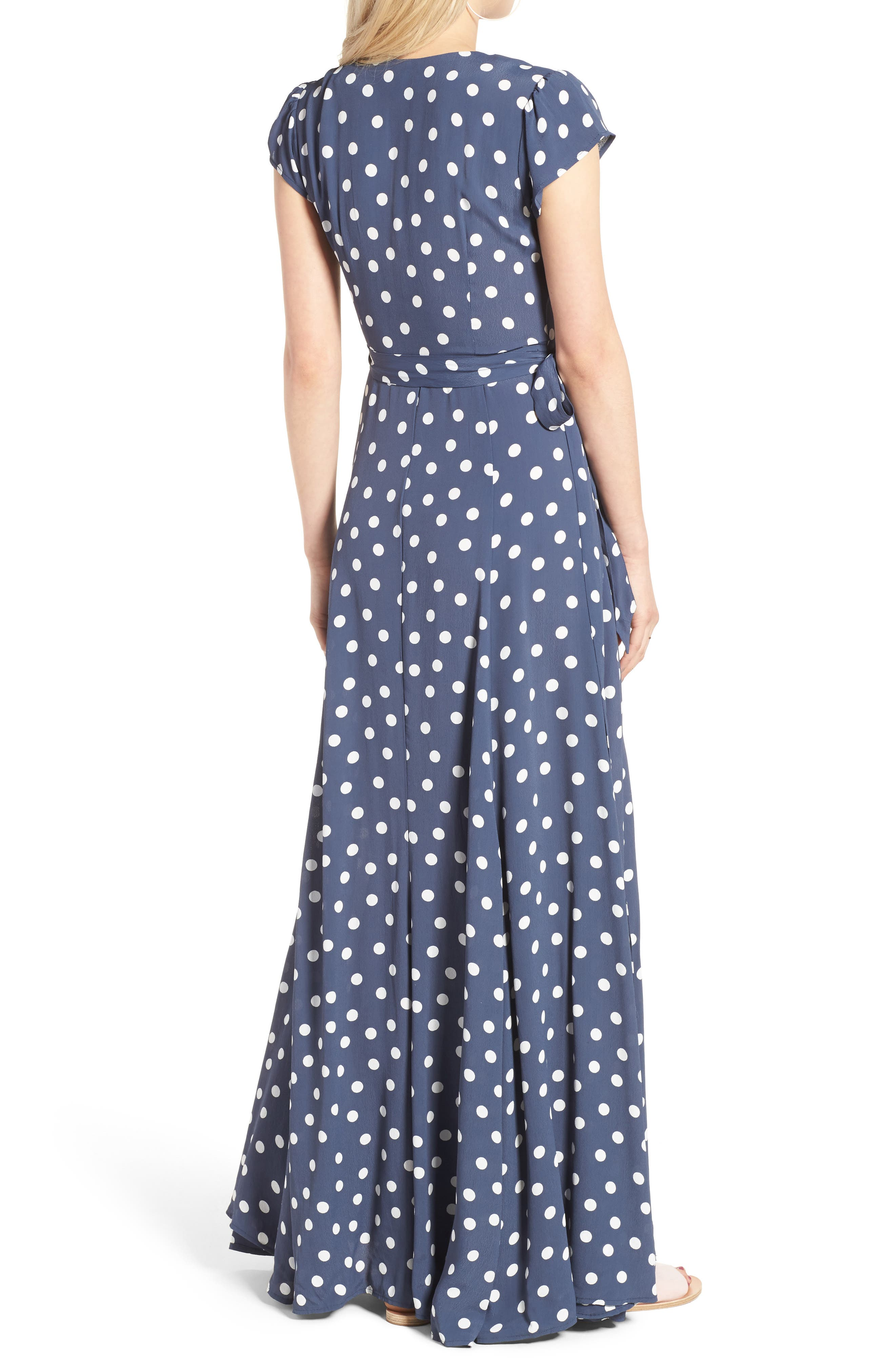 Sid Wrap Maxi Dress,                             Alternate thumbnail 2, color,                             401