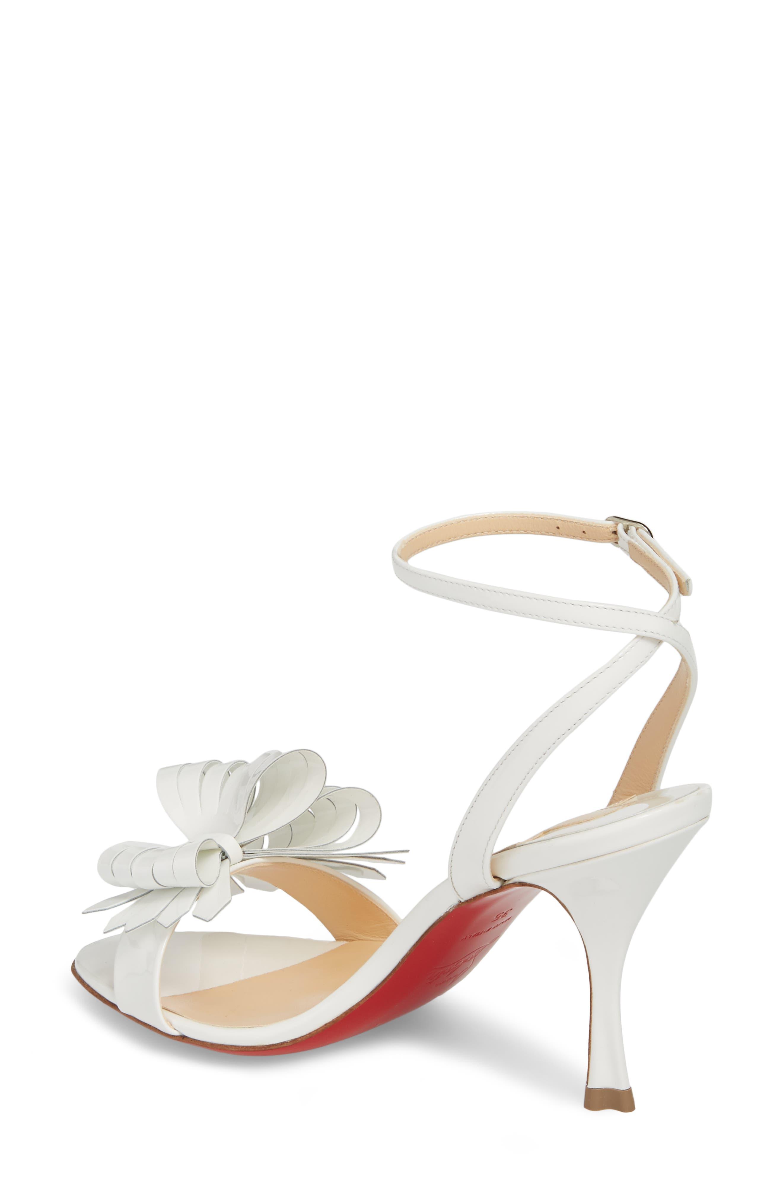 Miss Valois Bow Ankle Strap Sandal,                             Alternate thumbnail 4, color,
