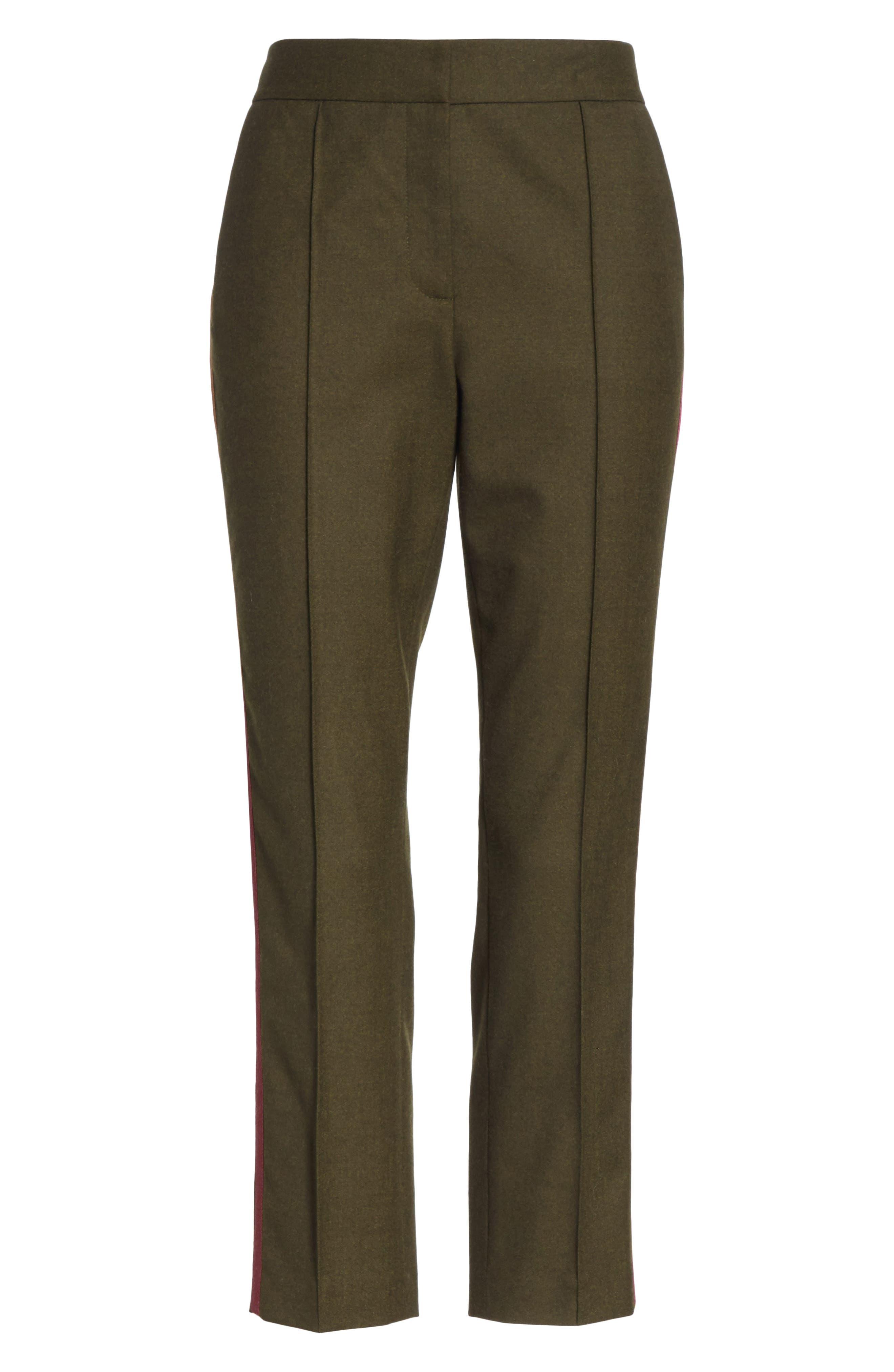 Side Stripe Stretch Flannel Pants,                             Alternate thumbnail 6, color,                             301