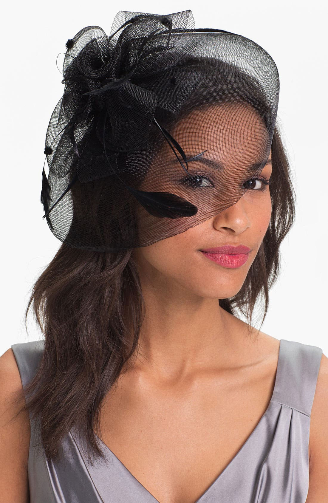 'Derby Down' Fascinator Headband,                             Main thumbnail 1, color,                             001
