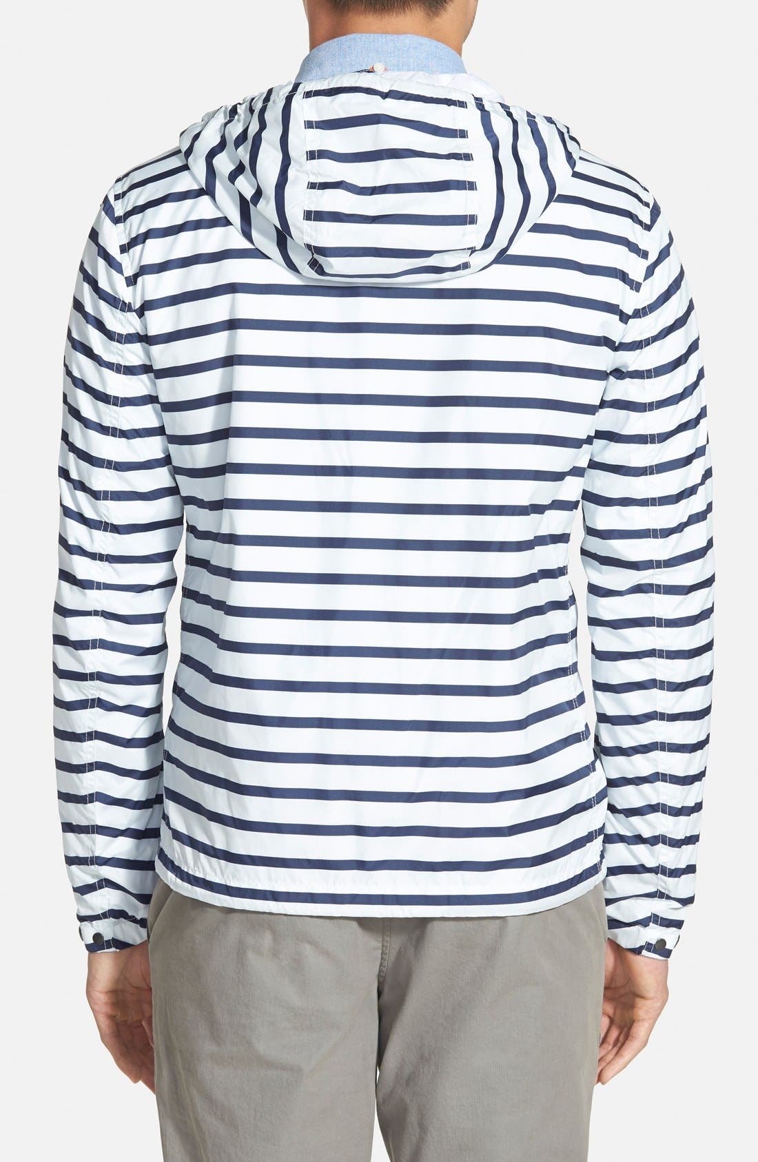 BURBERRY,                             Brit 'Kelson' Stripe Jacket,                             Alternate thumbnail 5, color,                             100