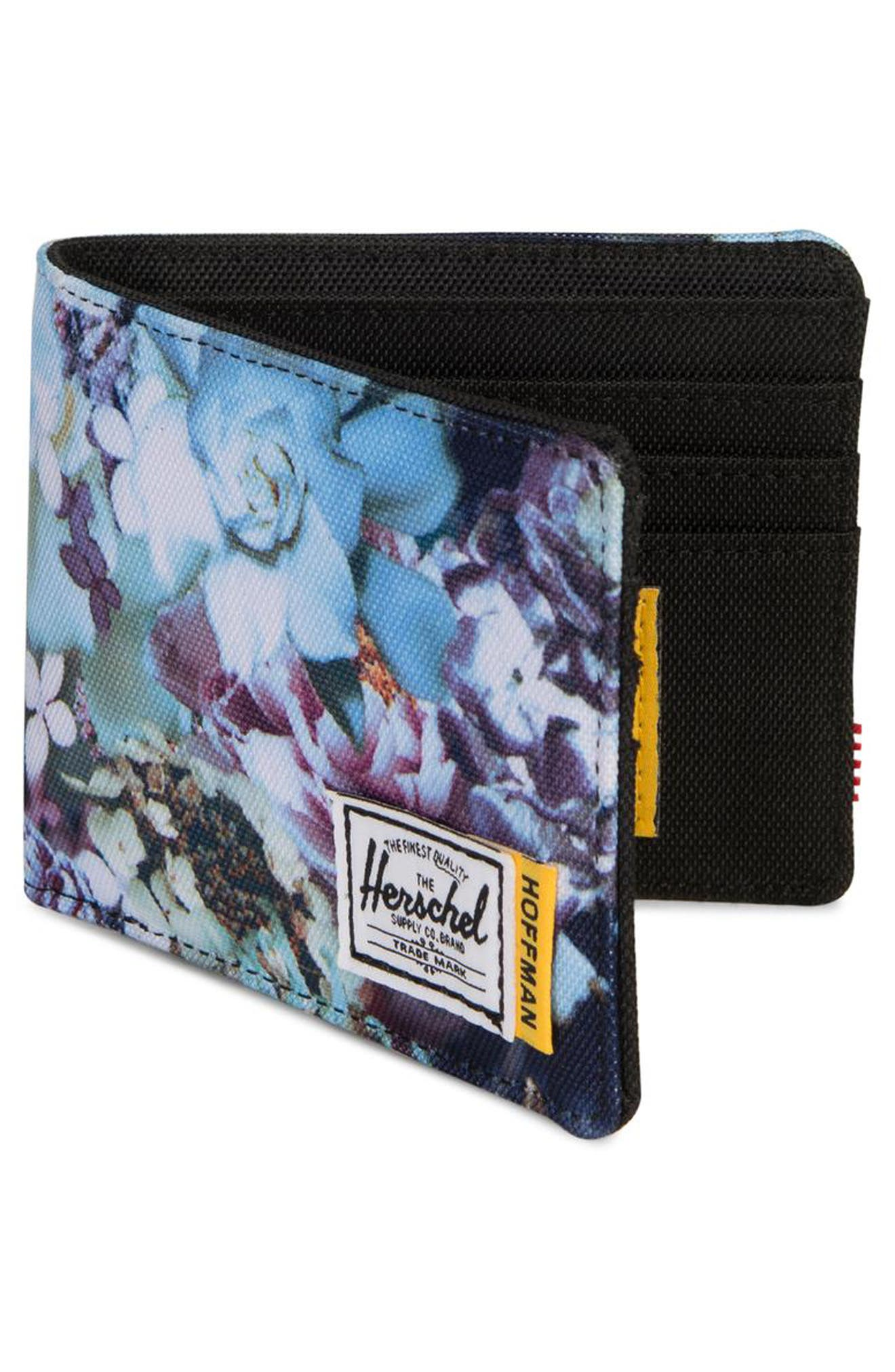 Hoffman Roy Wallet,                             Alternate thumbnail 3, color,                             WINTER FLORAL
