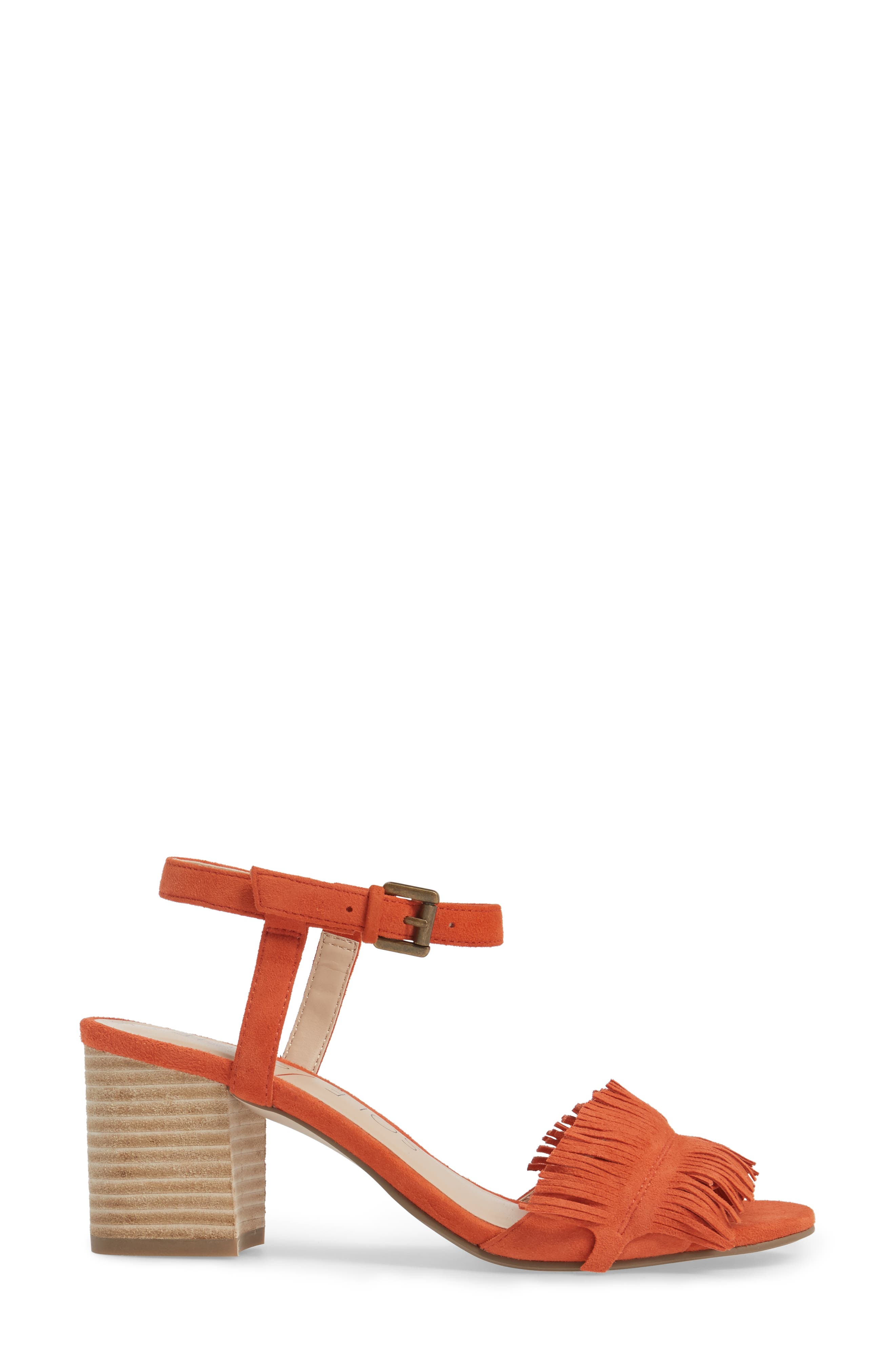 Sepia Fringe Sandal,                             Alternate thumbnail 9, color,