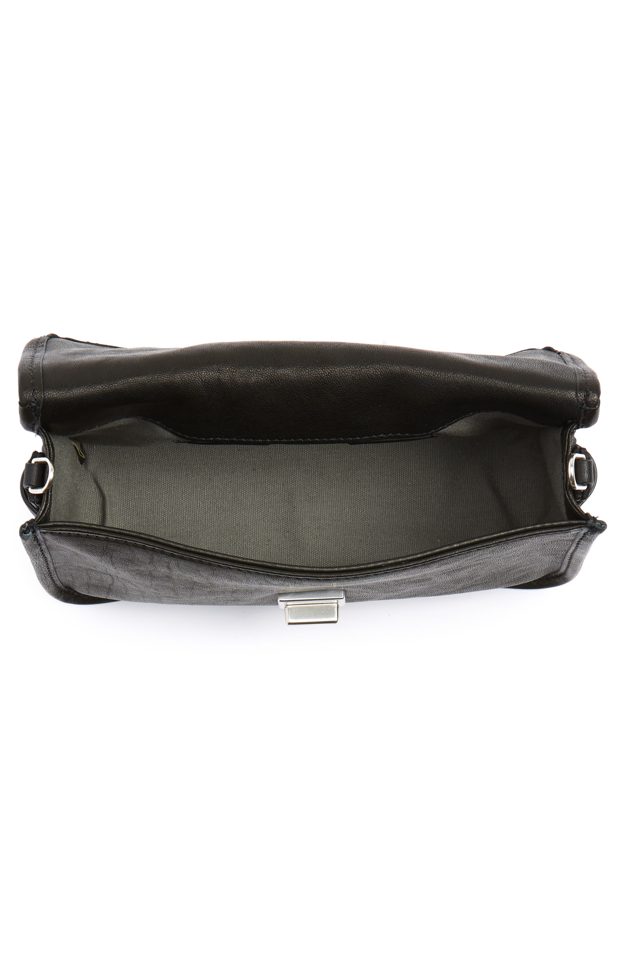 Leather Field Clutch,                             Alternate thumbnail 4, color,                             001