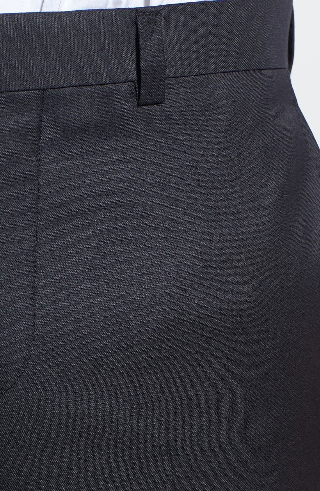 Jefferson Flat Front Wool Trousers,                             Alternate thumbnail 16, color,