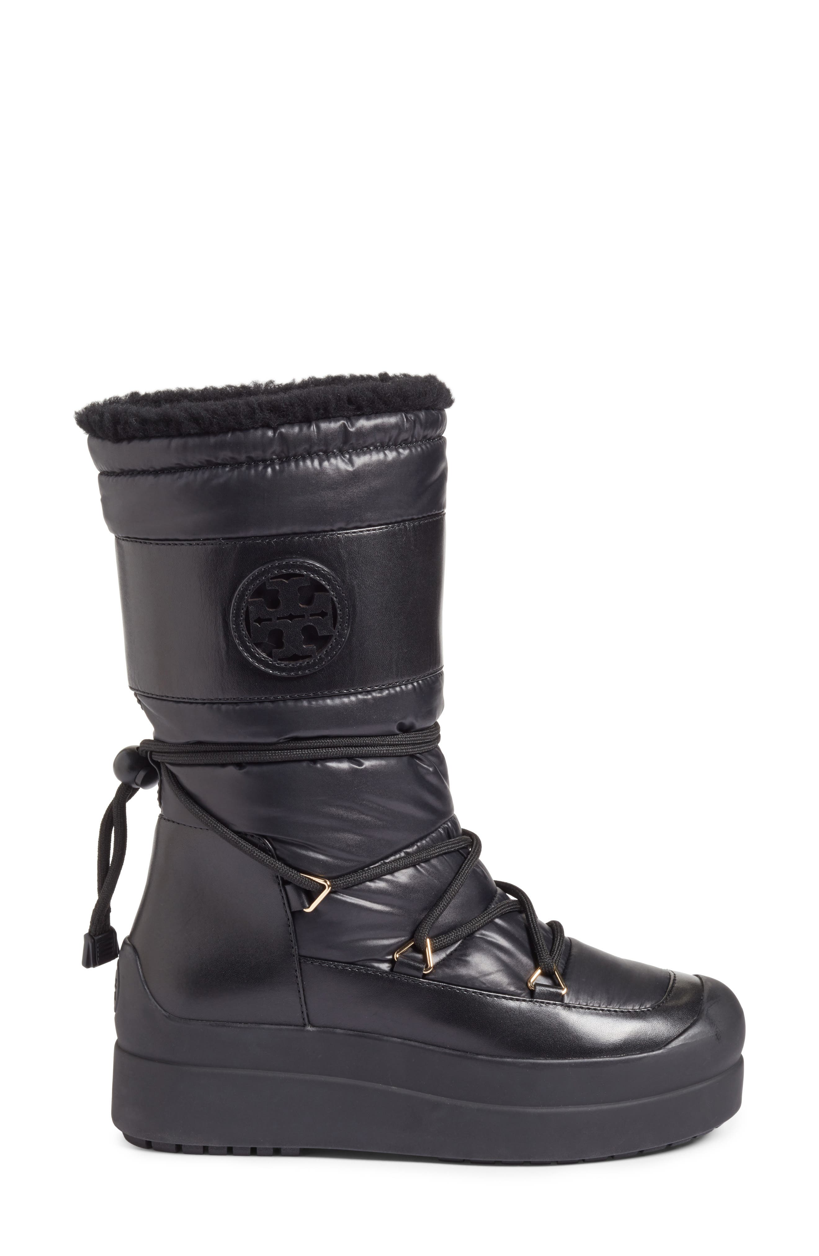 Cliff Genuine Shearling Lined Boot,                             Alternate thumbnail 3, color,