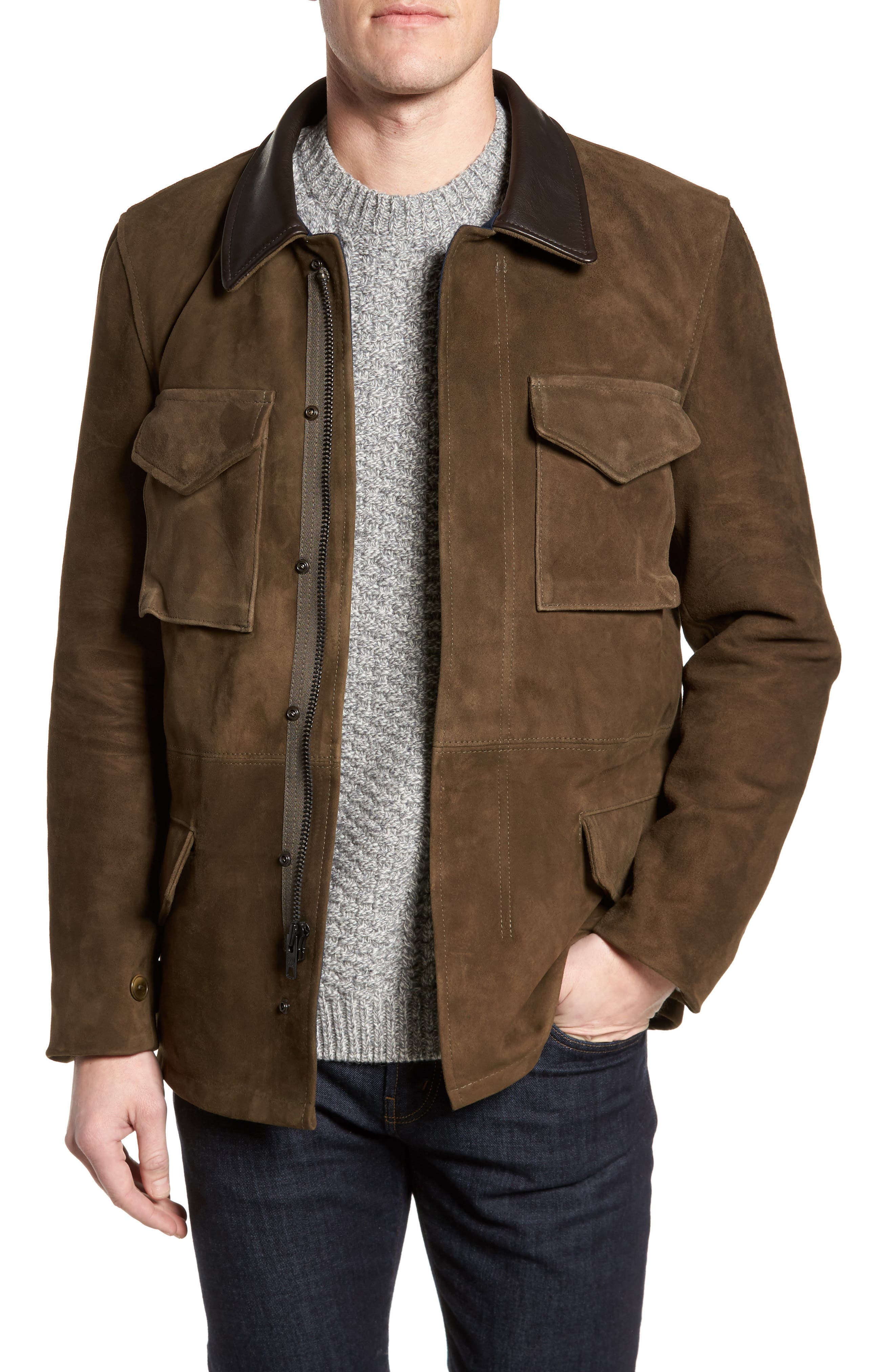 Suede M-51 Field Coat,                         Main,                         color, 352