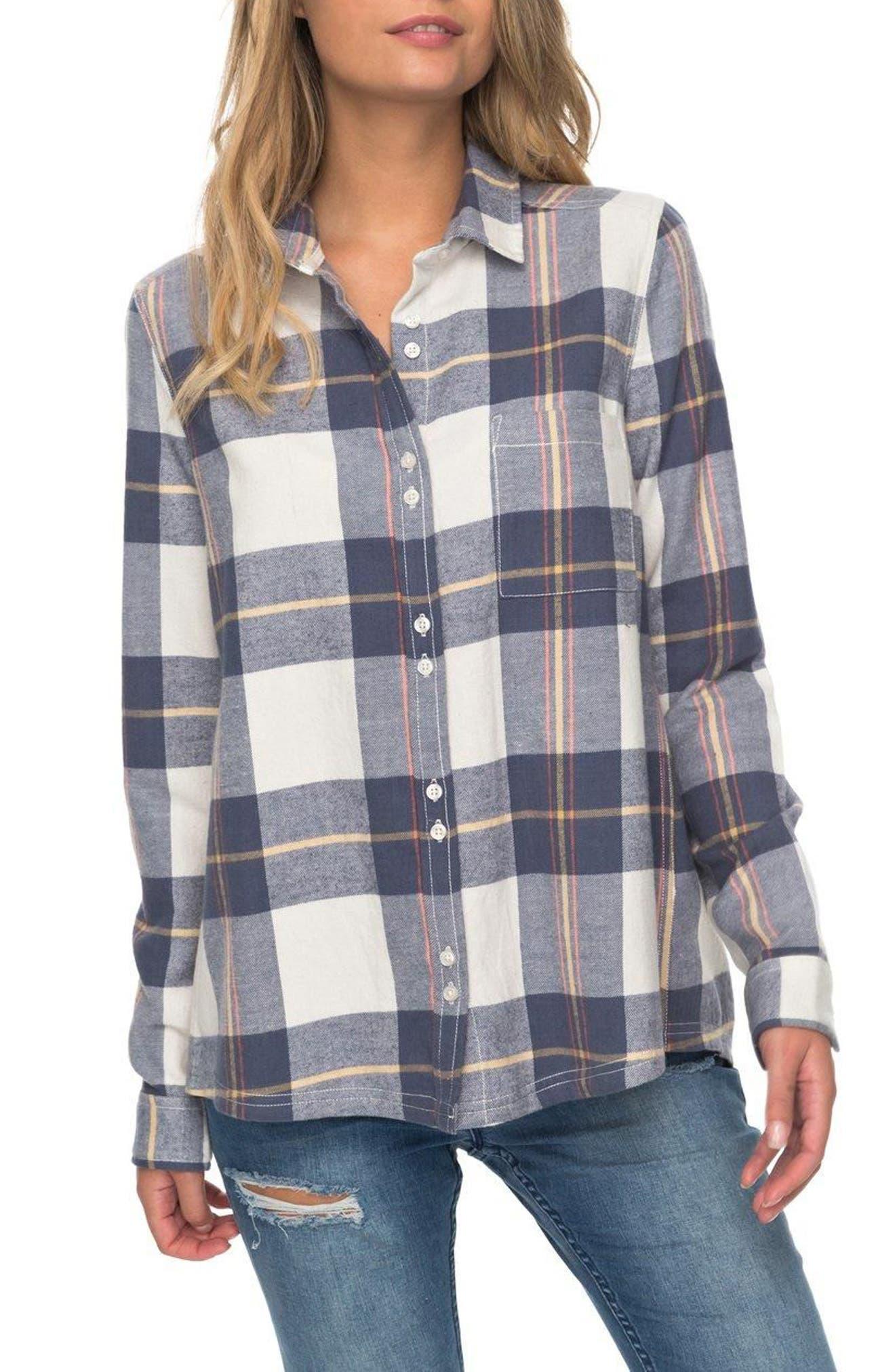Heavy Feelings Plaid Cotton Shirt,                             Main thumbnail 2, color,