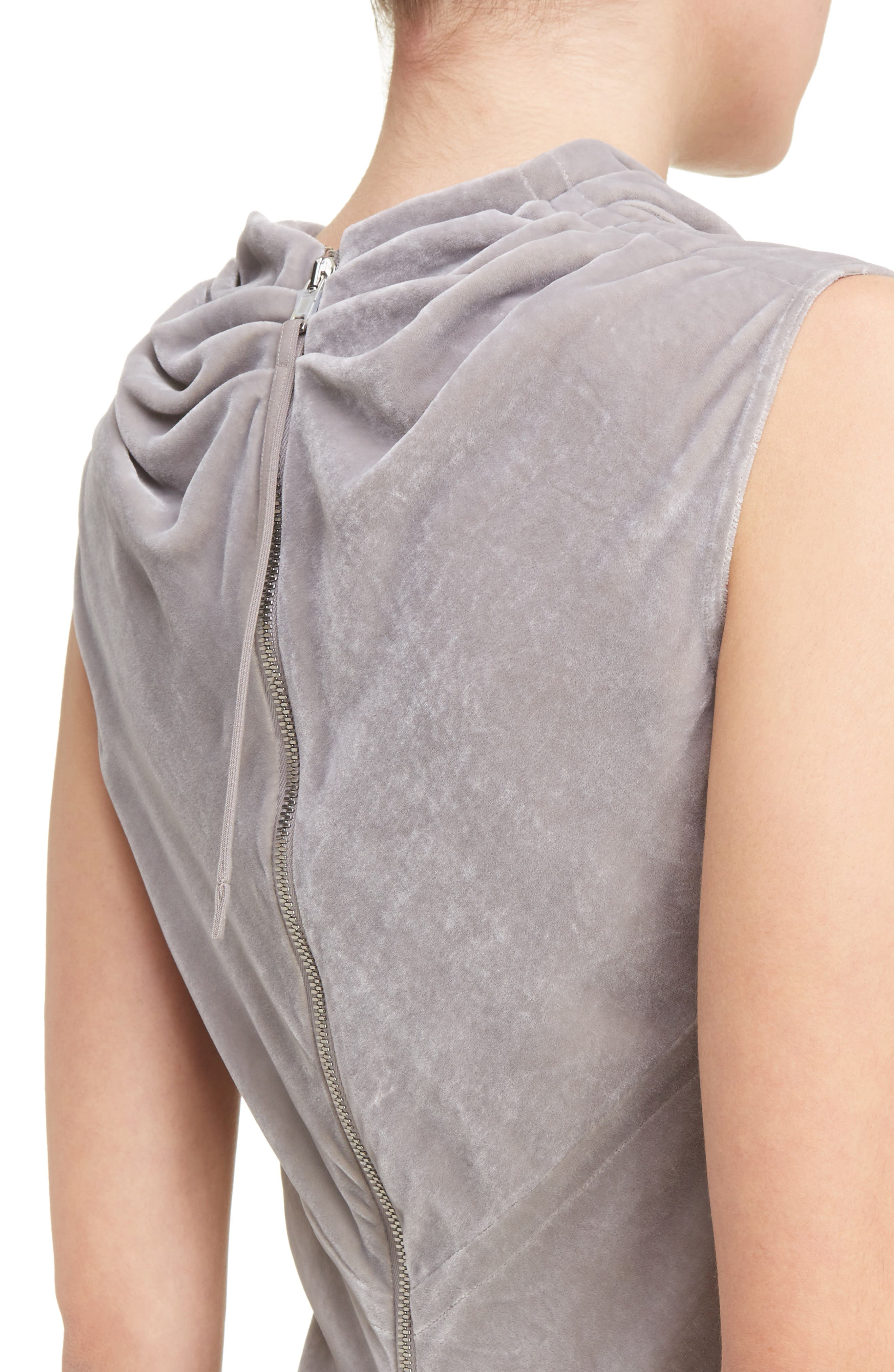 Velvet Drape Neck Top,                             Alternate thumbnail 4, color,                             020