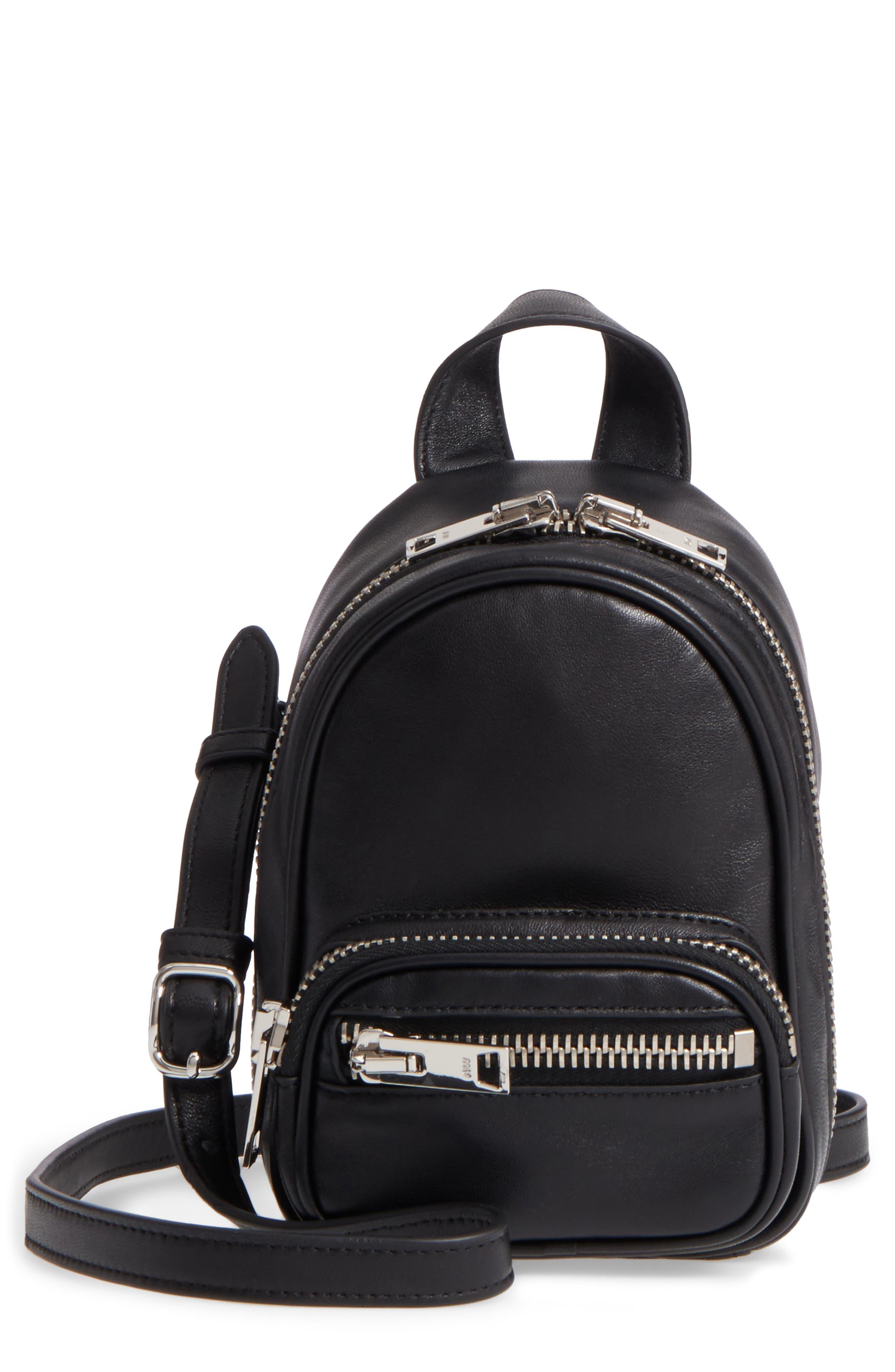 Mini Attica Leather Backpack Shaped Crossbody Bag,                             Main thumbnail 1, color,