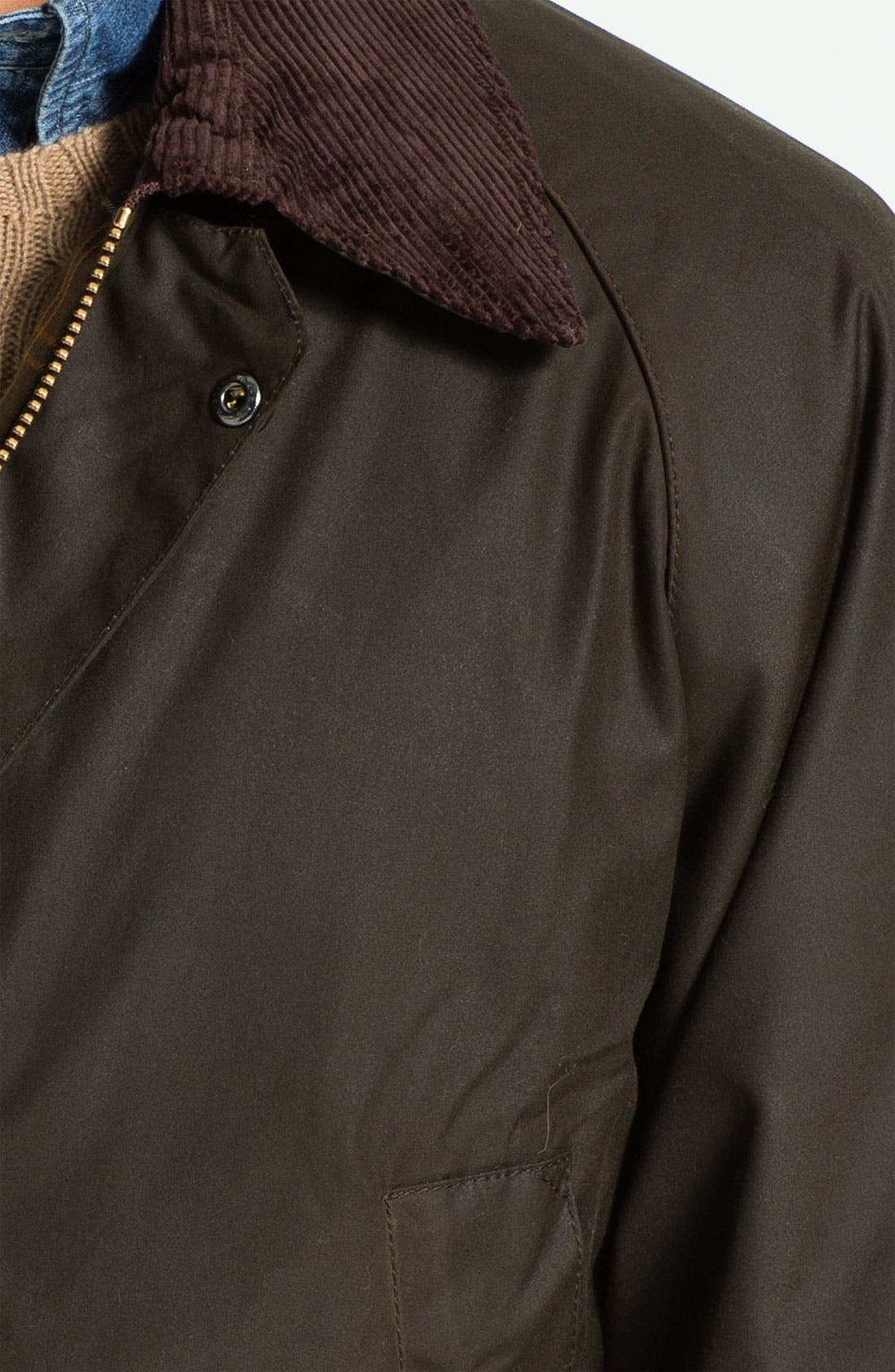 'Bedale' Relaxed Fit Waterproof Waxed Cotton Jacket,                             Alternate thumbnail 3, color,                             301