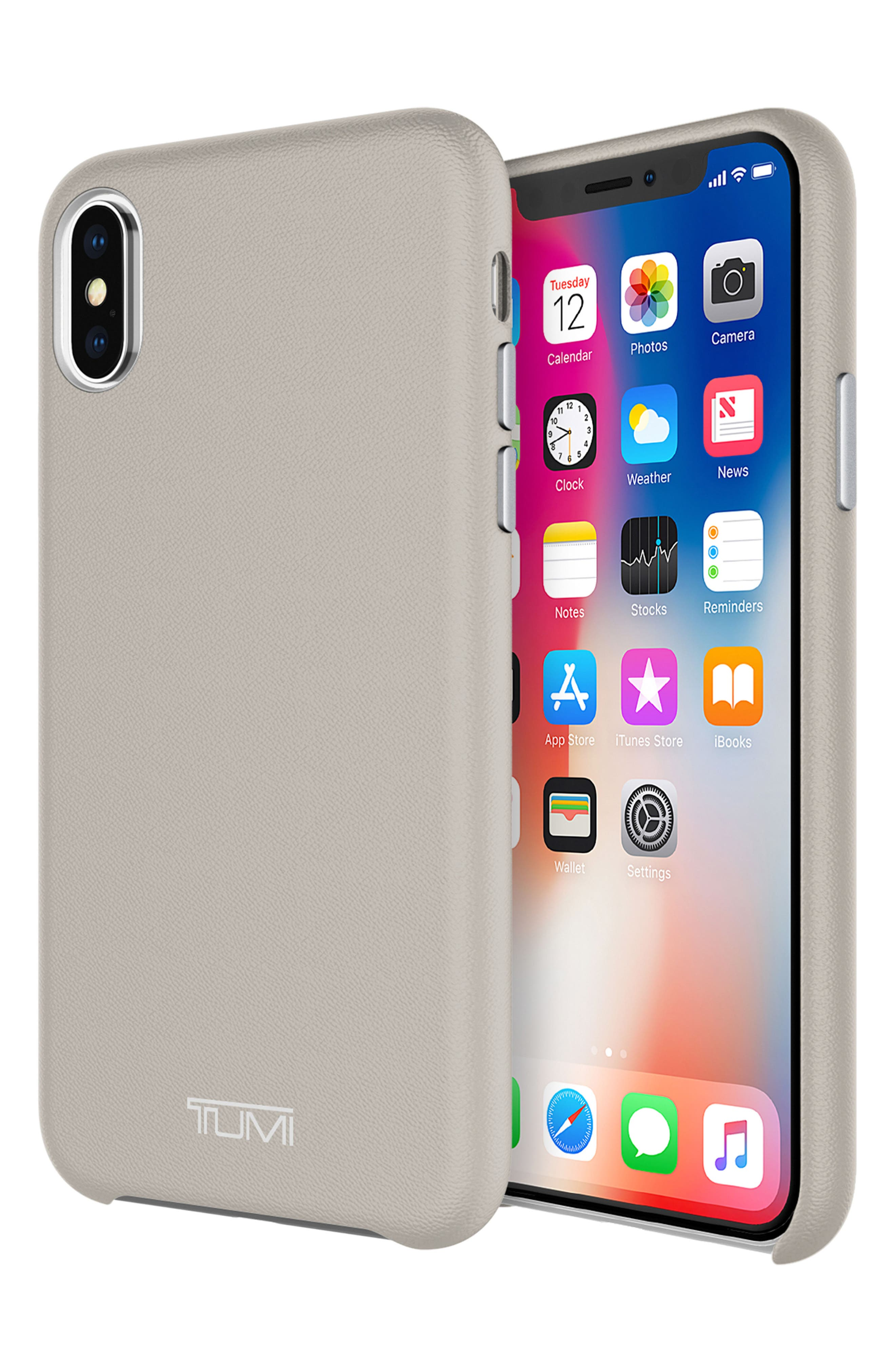 Leather iPhone X Case,                             Alternate thumbnail 11, color,