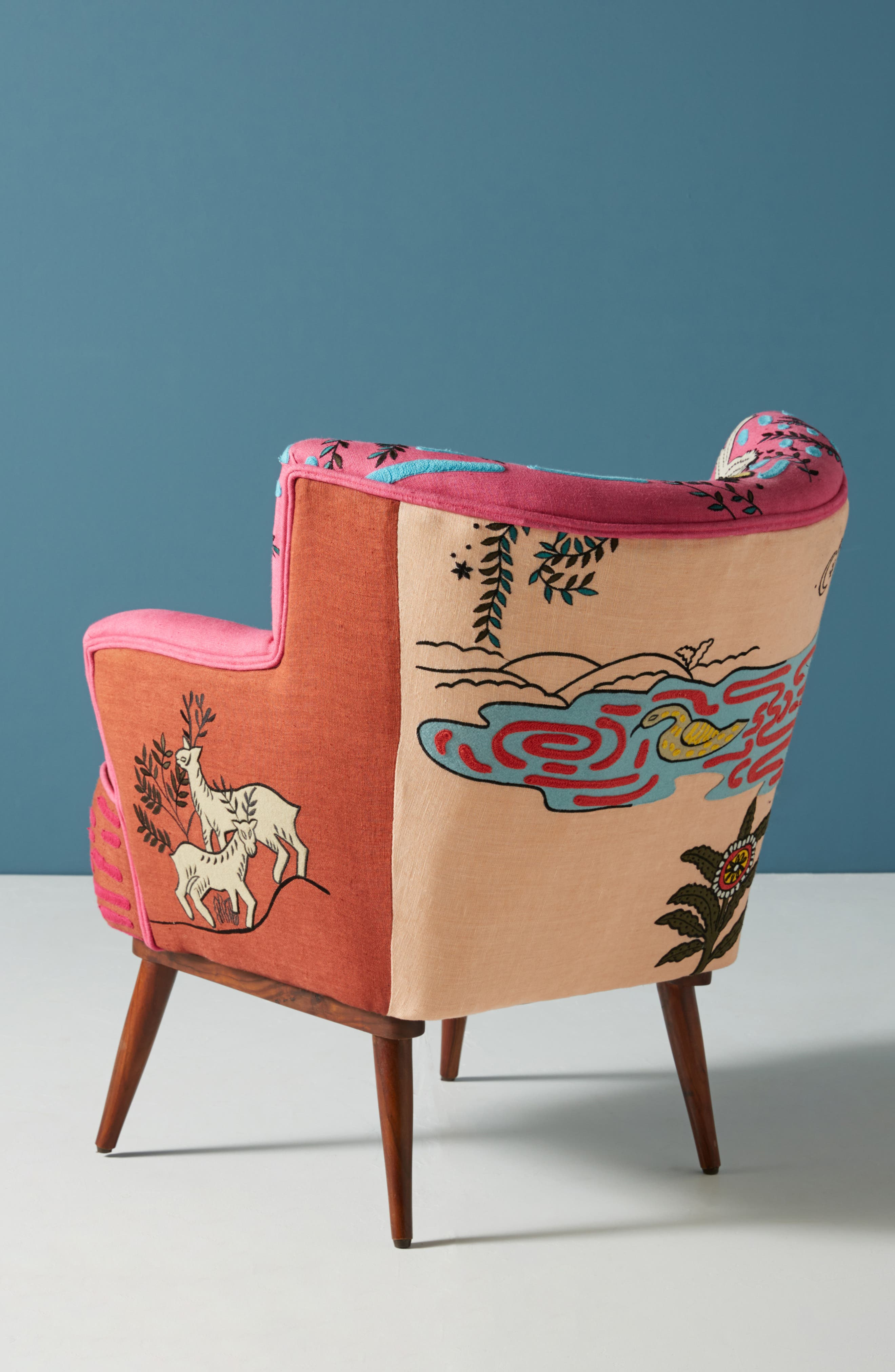 Wayne Occasional Chair,                             Alternate thumbnail 3, color,                             PINK