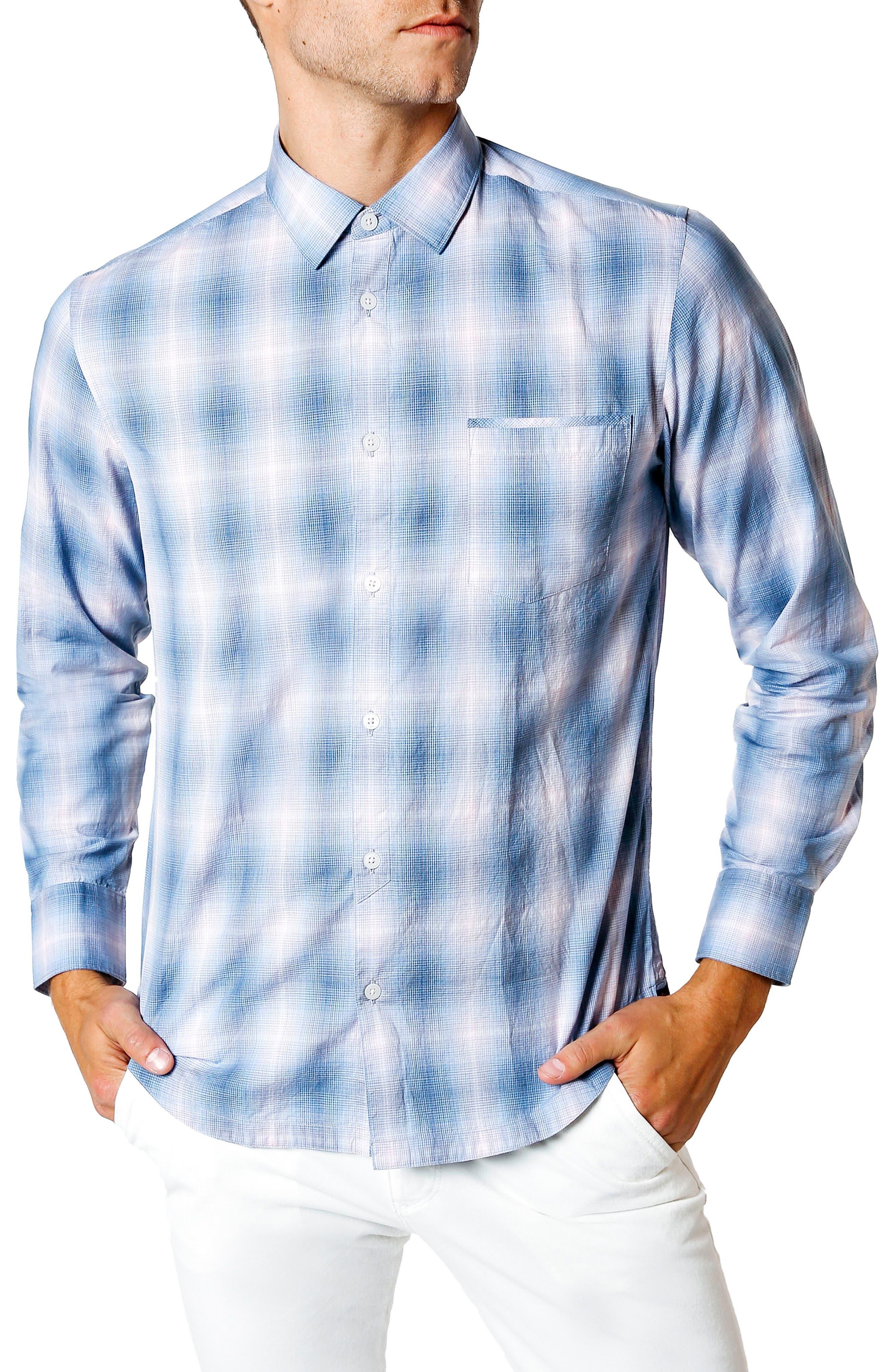 Sunset Slim Fit Sport Shirt,                             Main thumbnail 1, color,