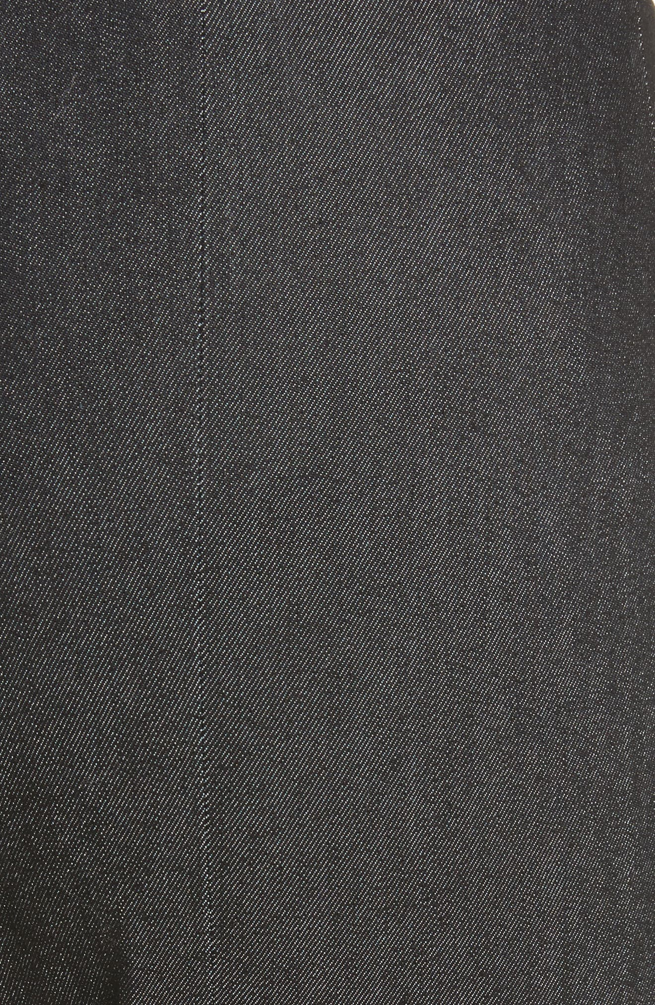 Kiran Lace-Up Stretch Denim Pants,                             Alternate thumbnail 5, color,                             001