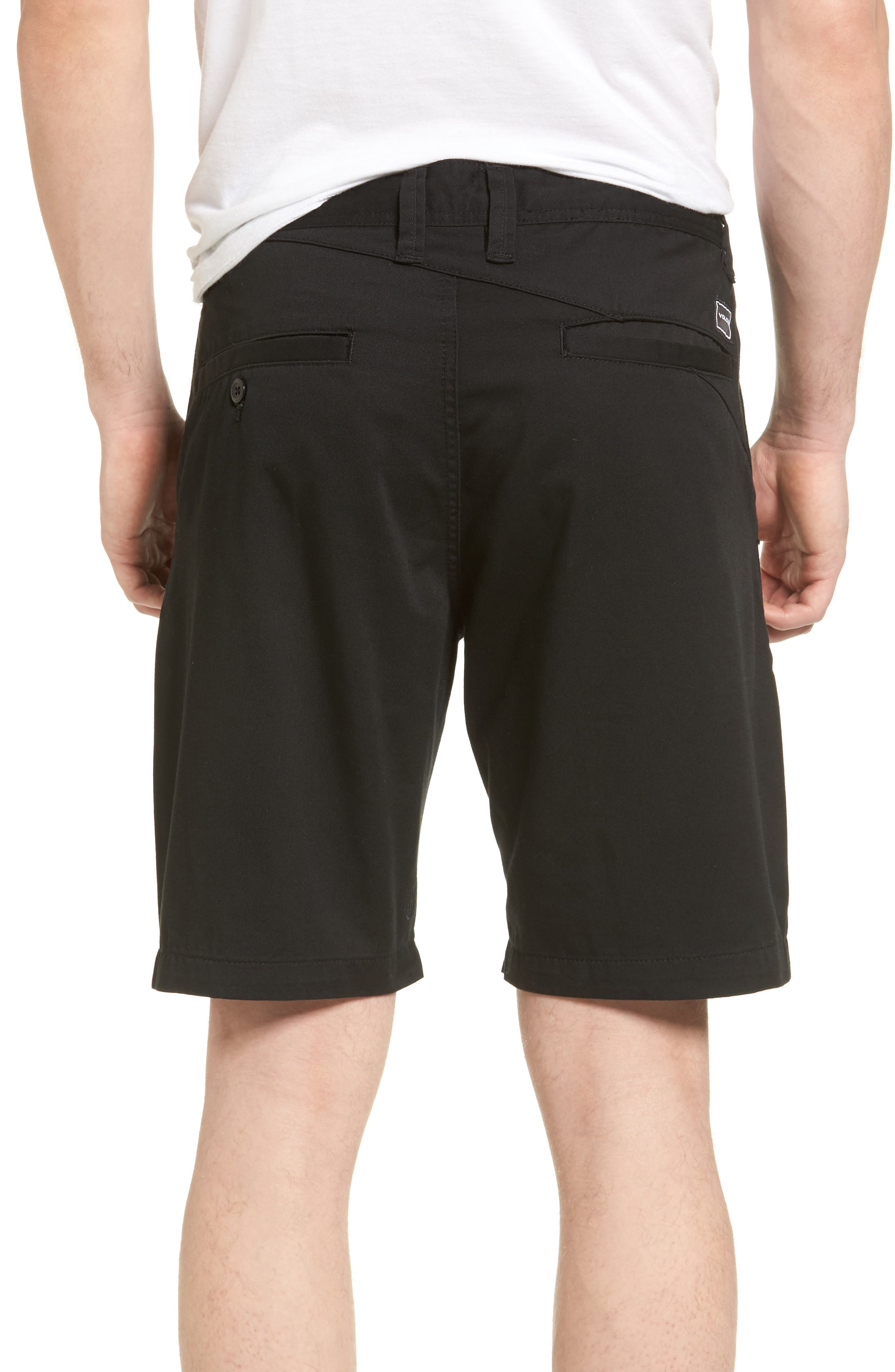 Modern Chino Shorts,                             Alternate thumbnail 2, color,                             BLACK