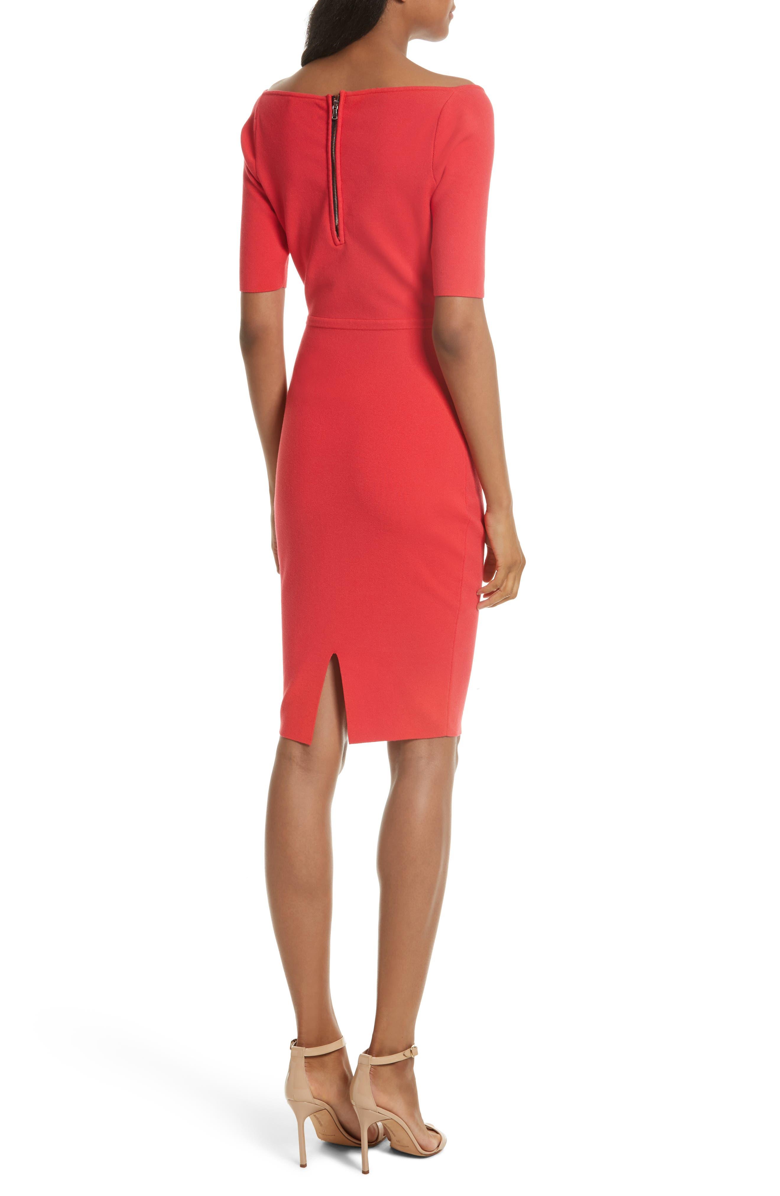 Square Neck Sheath Dress,                             Alternate thumbnail 2, color,