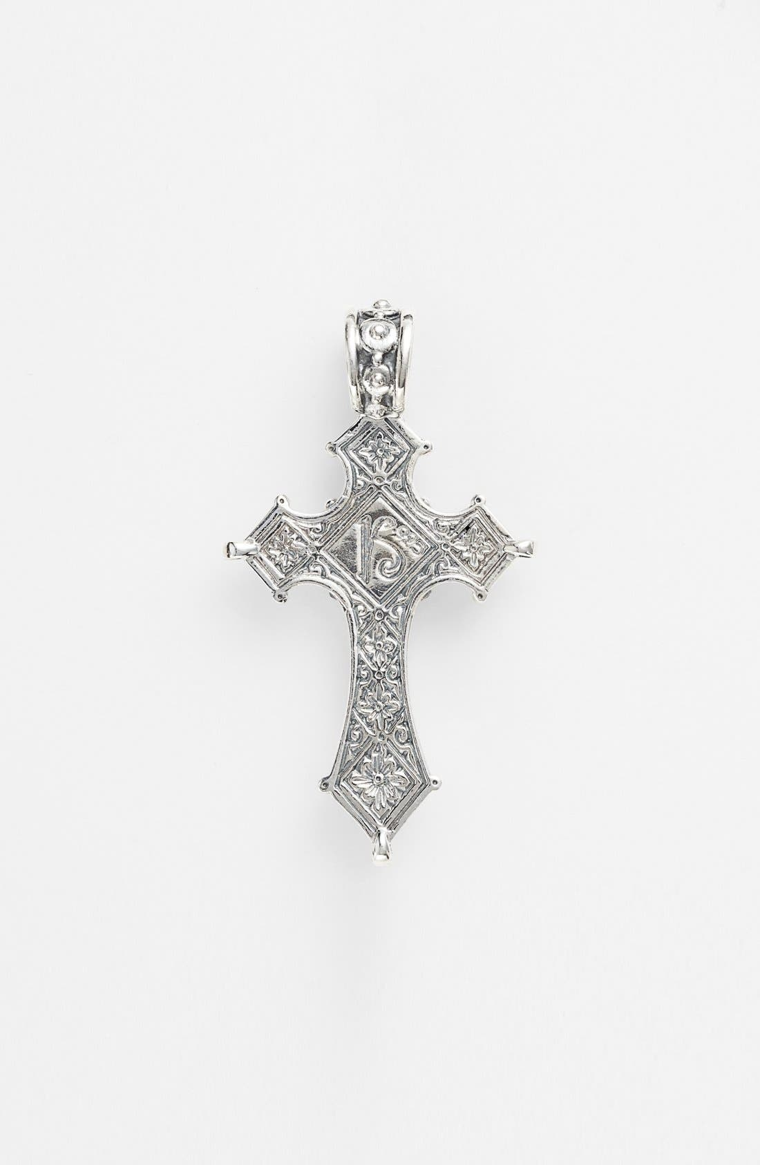 'Myrmidones' Cross Pendant,                             Alternate thumbnail 2, color,                             SILVER