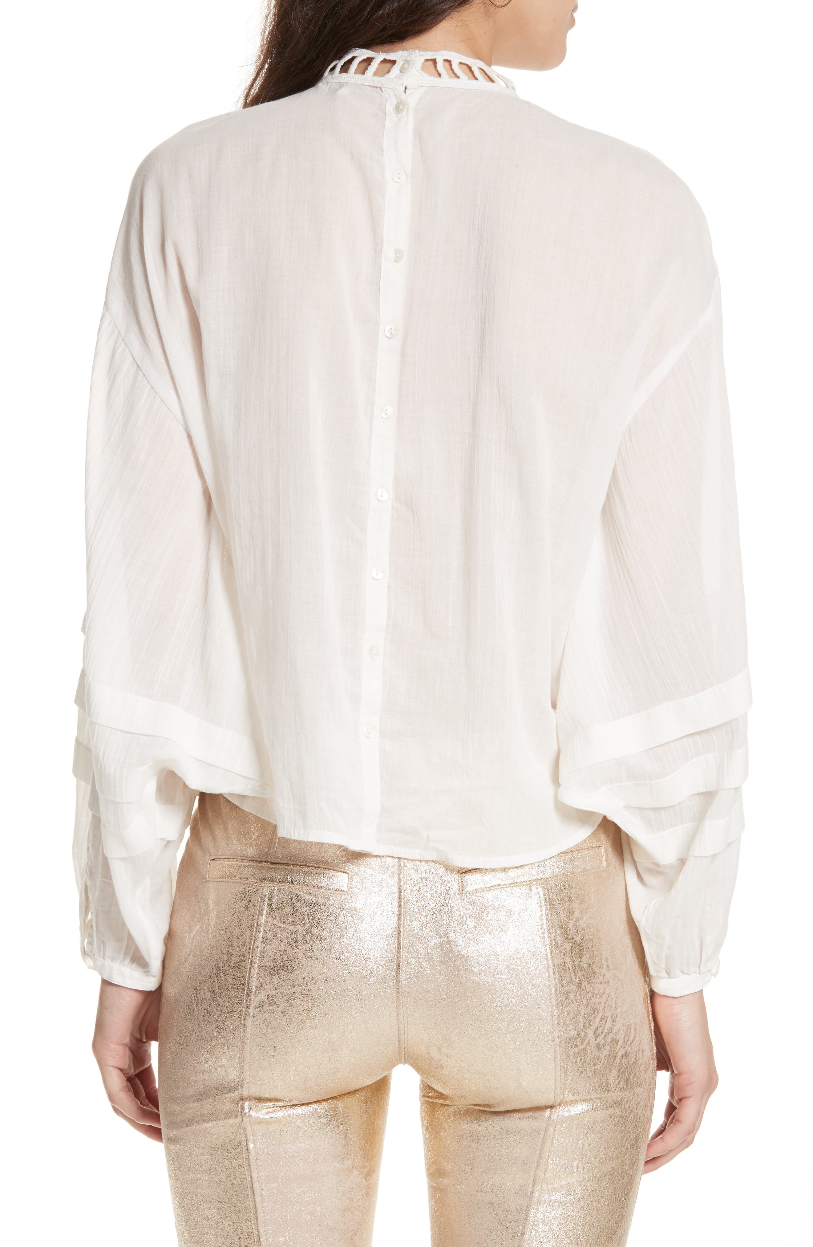 Heart of Gold Embellished Blouse,                             Alternate thumbnail 3, color,