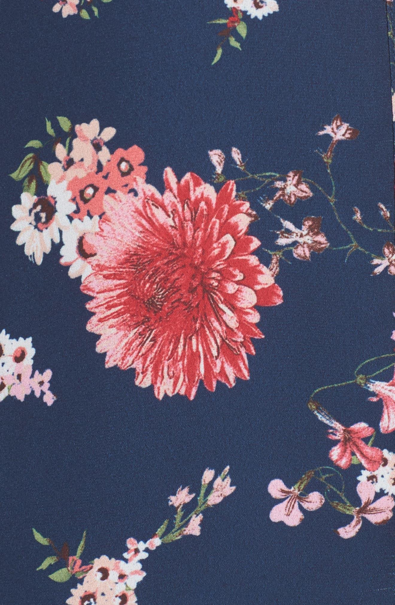 Liliana Floral Blouse,                             Alternate thumbnail 5, color,                             416