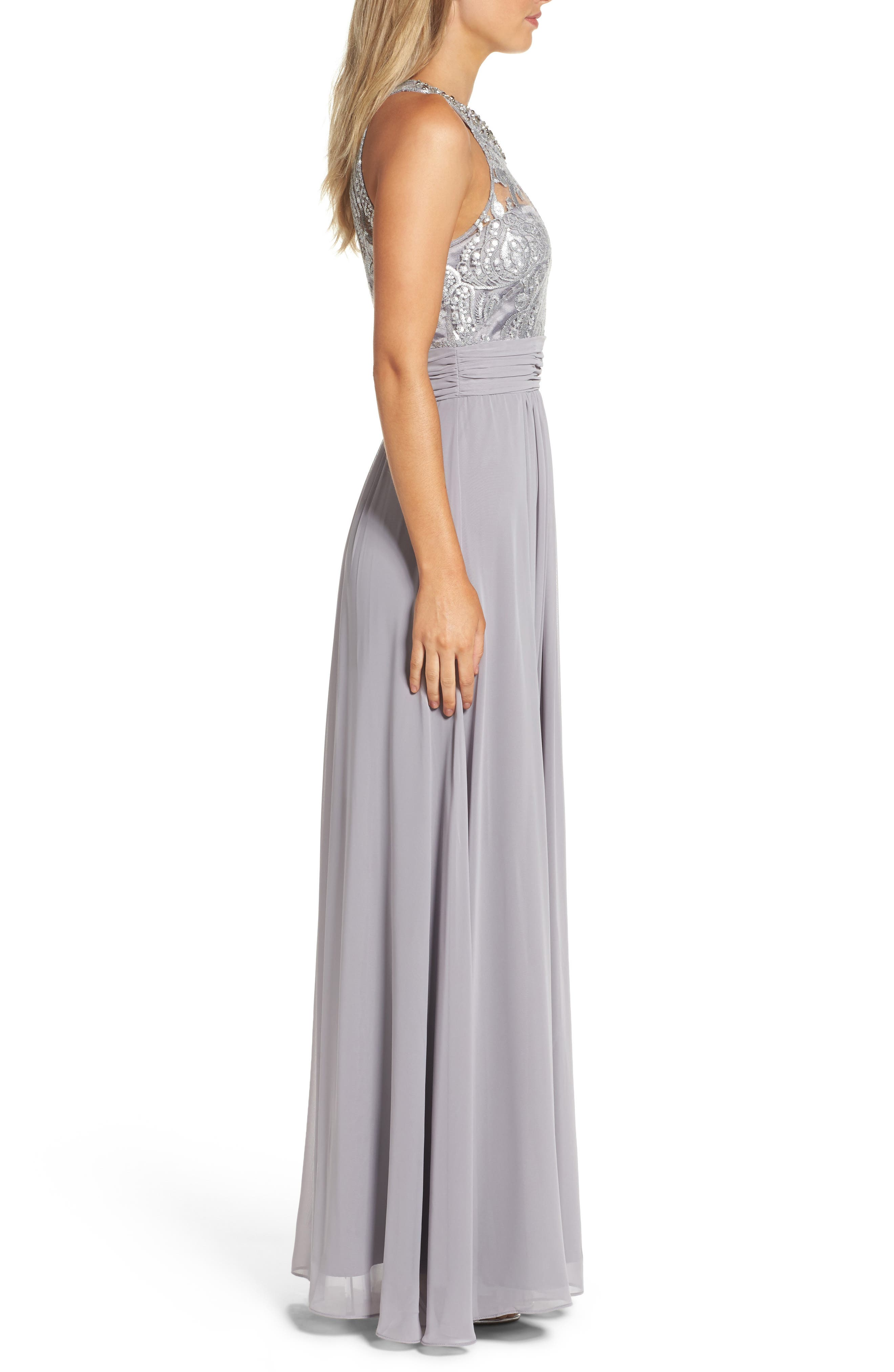 Lace Bodice Gown,                             Alternate thumbnail 10, color,