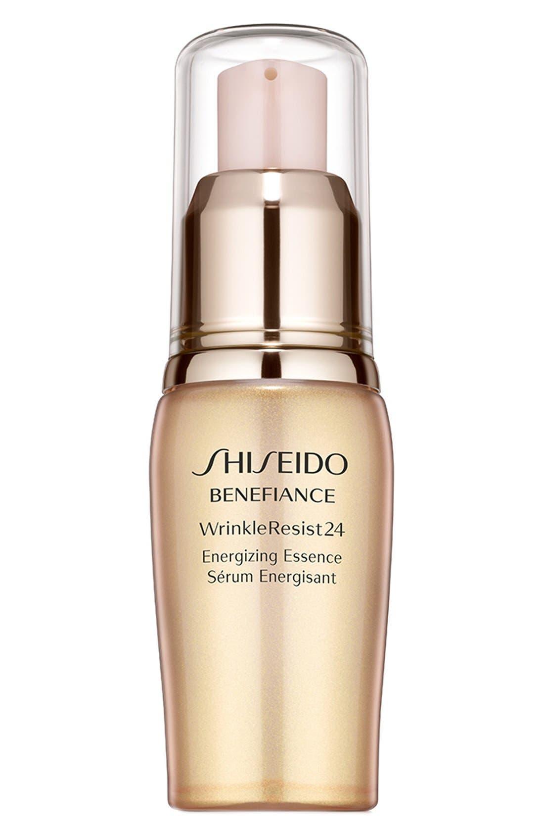 SHISEIDO,                             Benefiance WrinkleResist24 Energizing Essence,                             Main thumbnail 1, color,                             000
