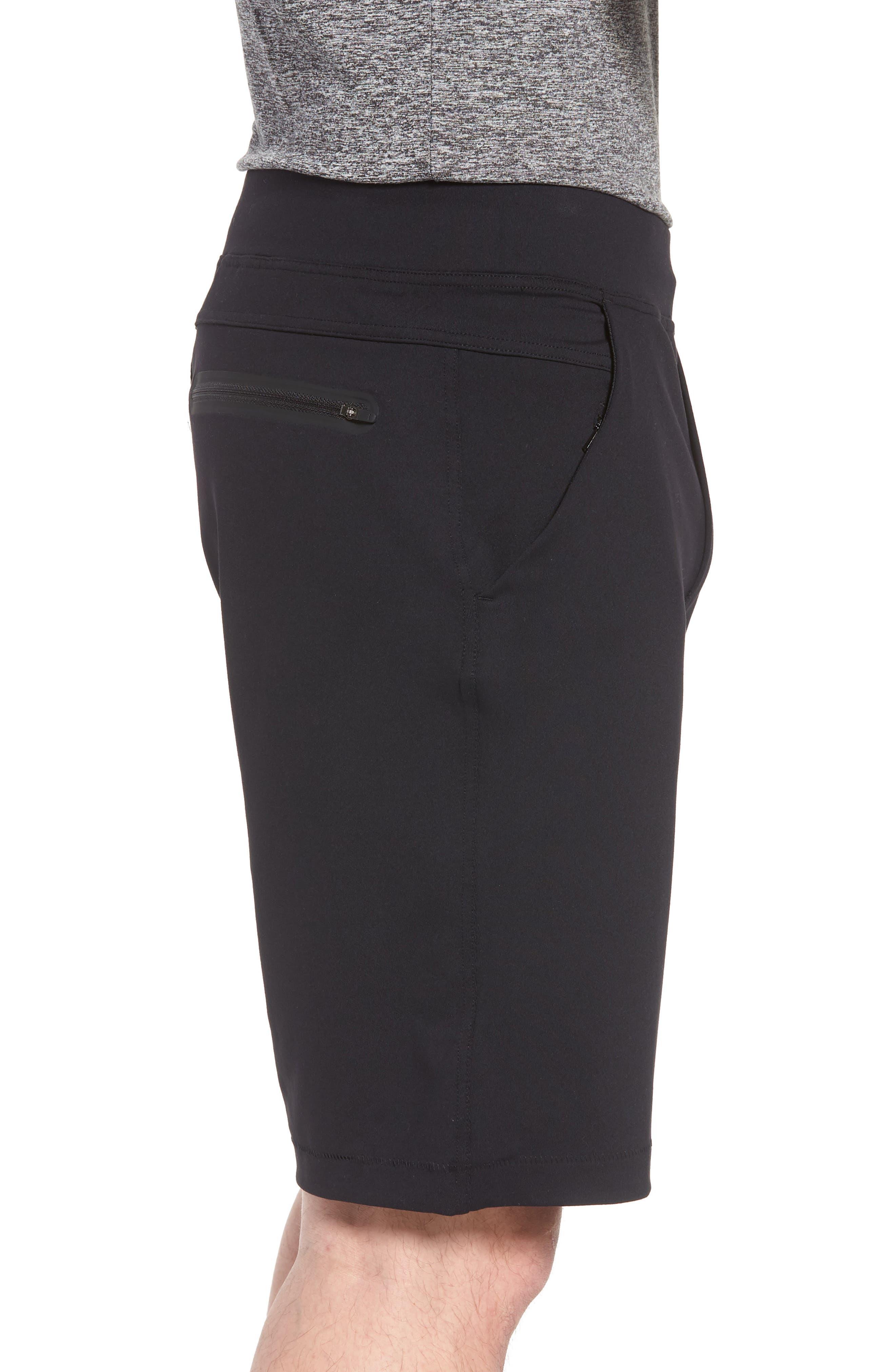 206 Shorts,                             Alternate thumbnail 3, color,                             BLACK