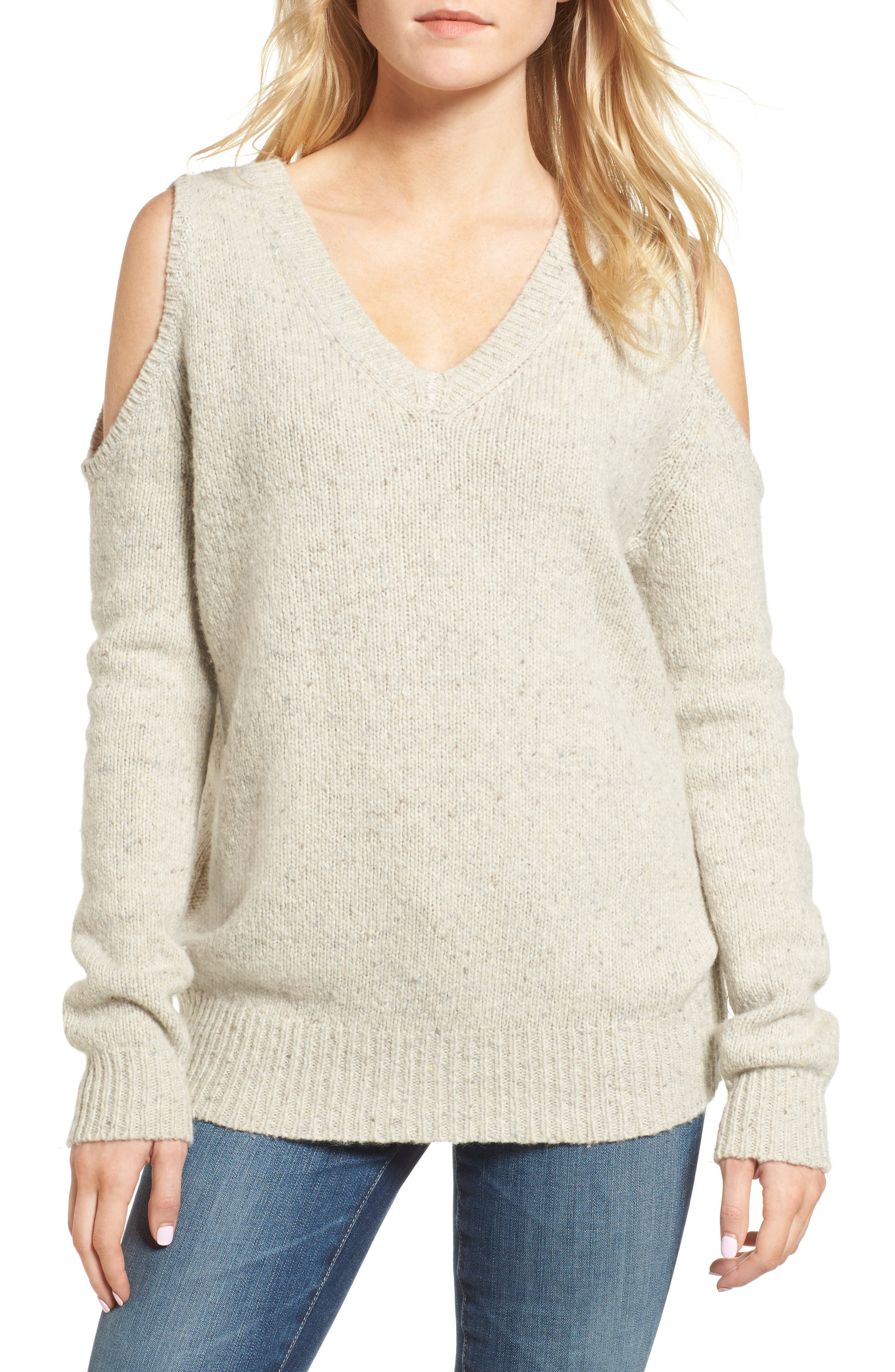 Page Cold Shoulder Sweater,                             Main thumbnail 7, color,