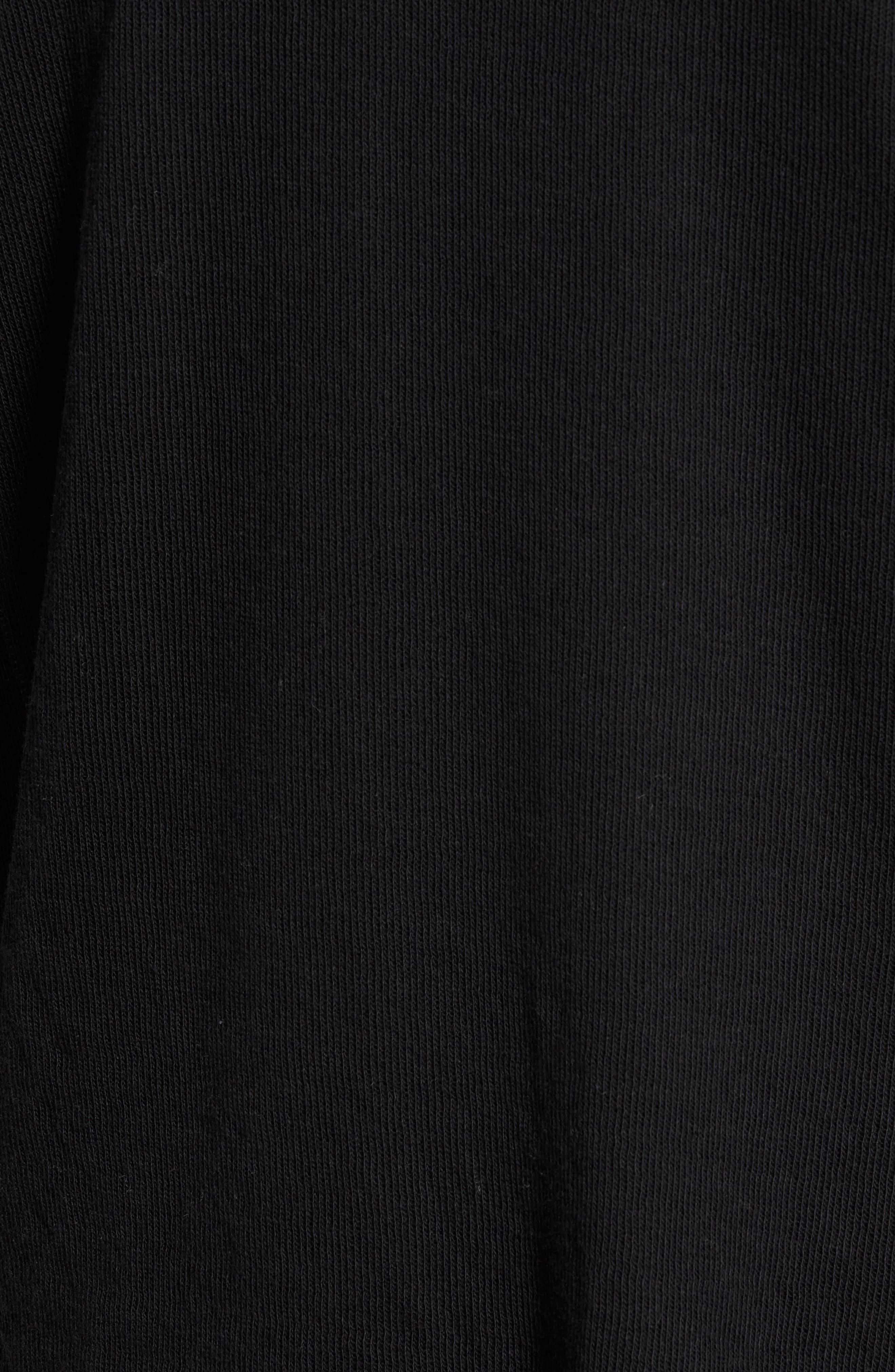 Double Knit Long Sleeve T-Shirt,                             Alternate thumbnail 5, color,                             BLACK