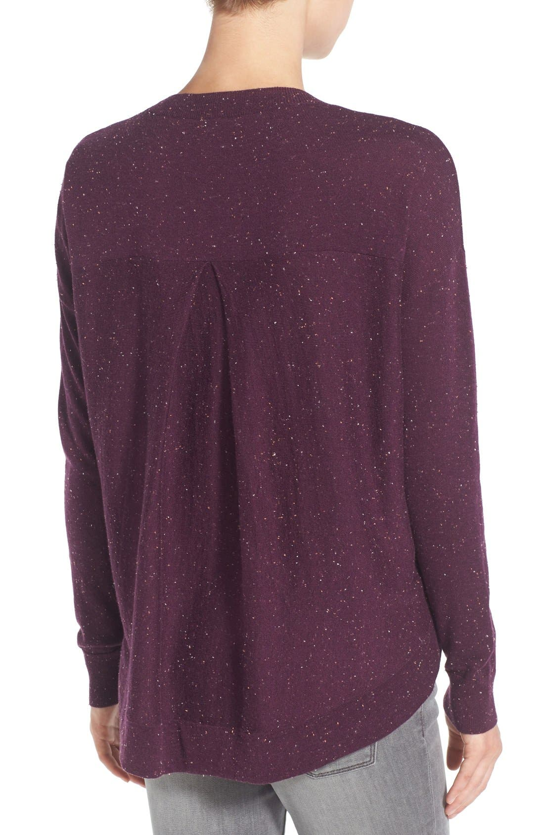 Pleat Back High/Low Crewneck Sweater,                             Alternate thumbnail 27, color,