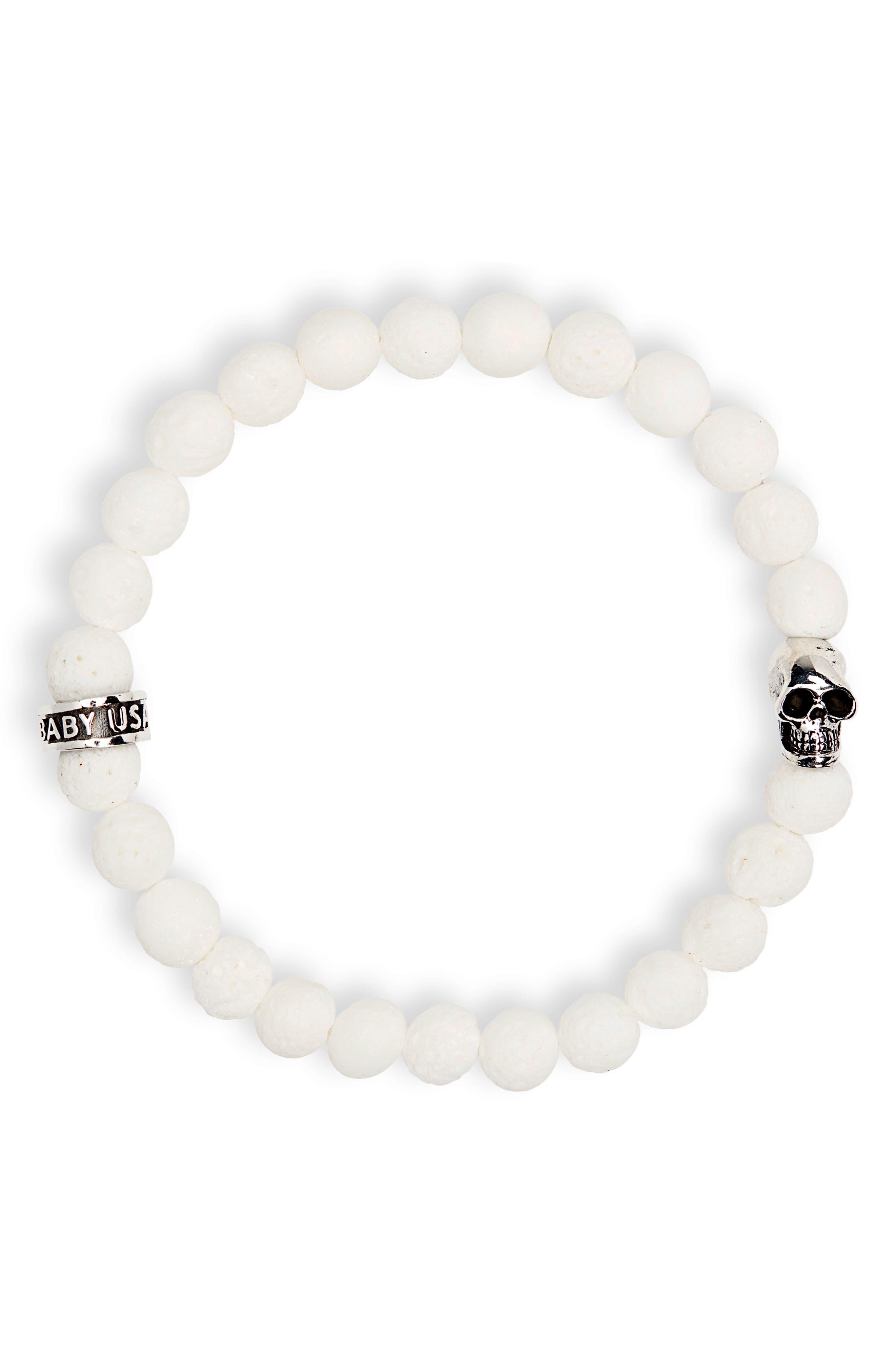 White Coral Bead Bracelet,                         Main,                         color, 100