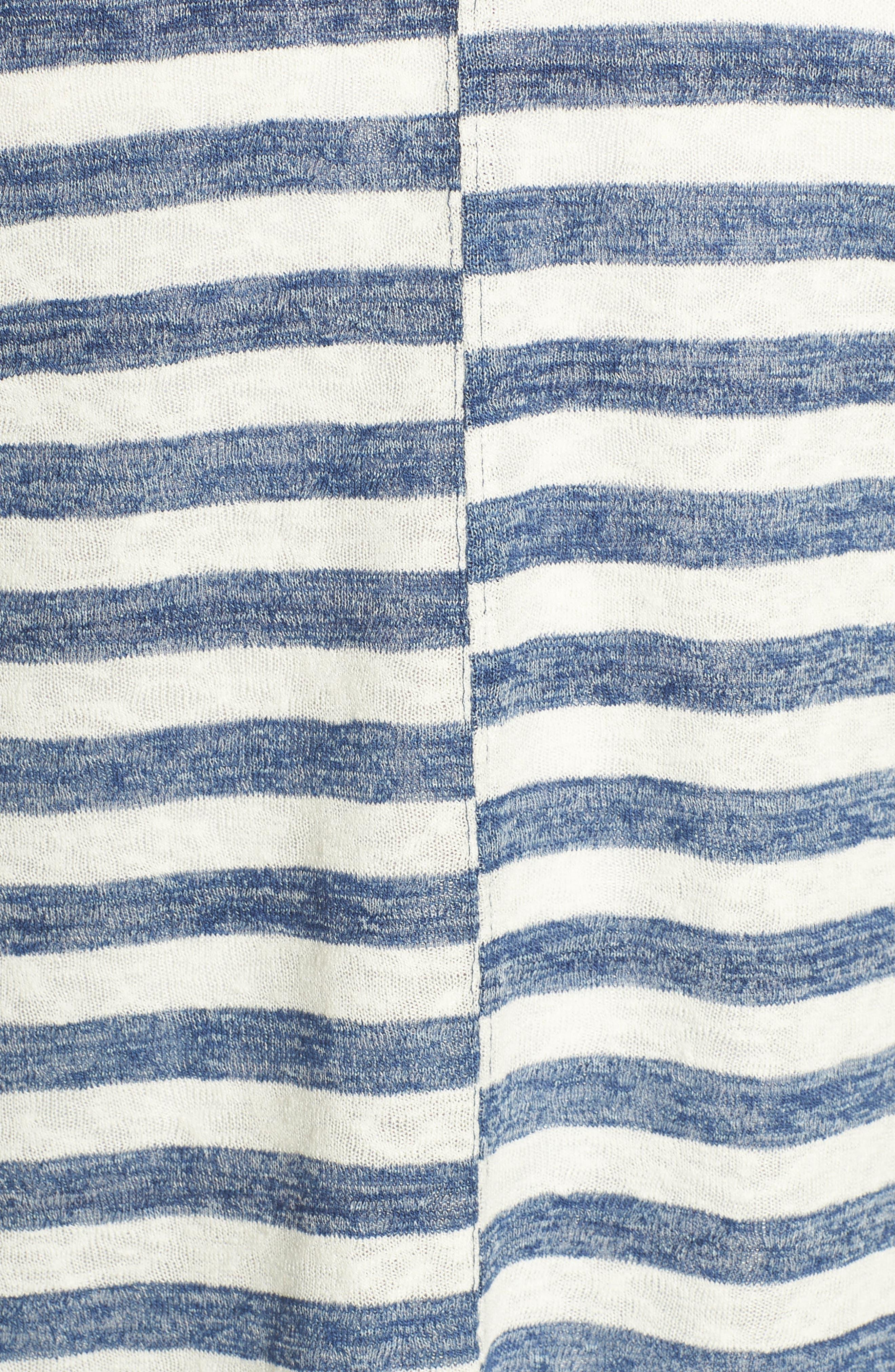 Offset Stripe Top,                             Alternate thumbnail 6, color,                             491
