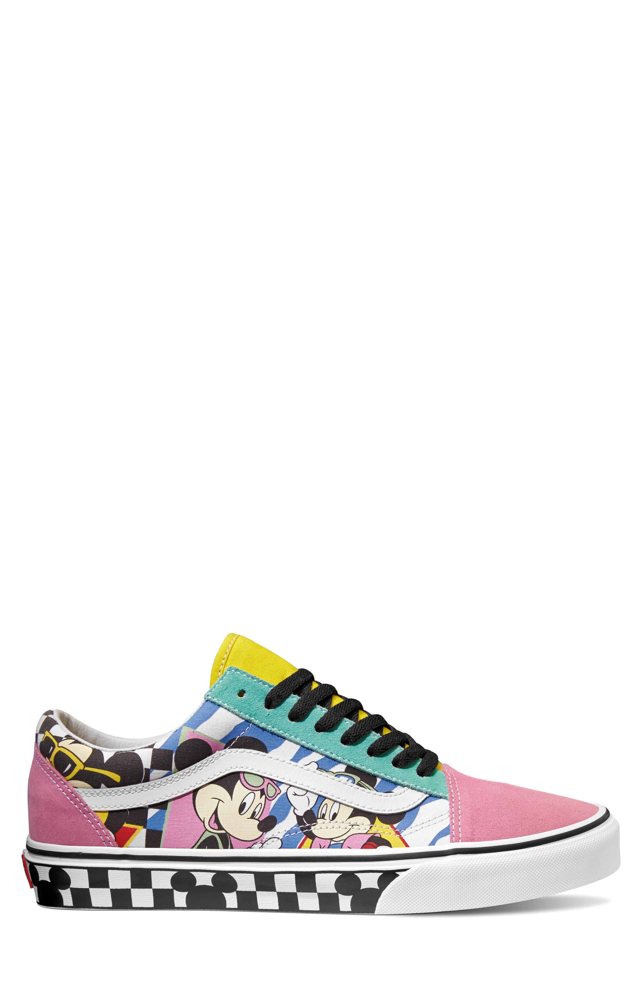 x Disney Old Skool Sneaker,                             Main thumbnail 1, color,                             DISNEY 80S MICKEY/ TRUE WHITE