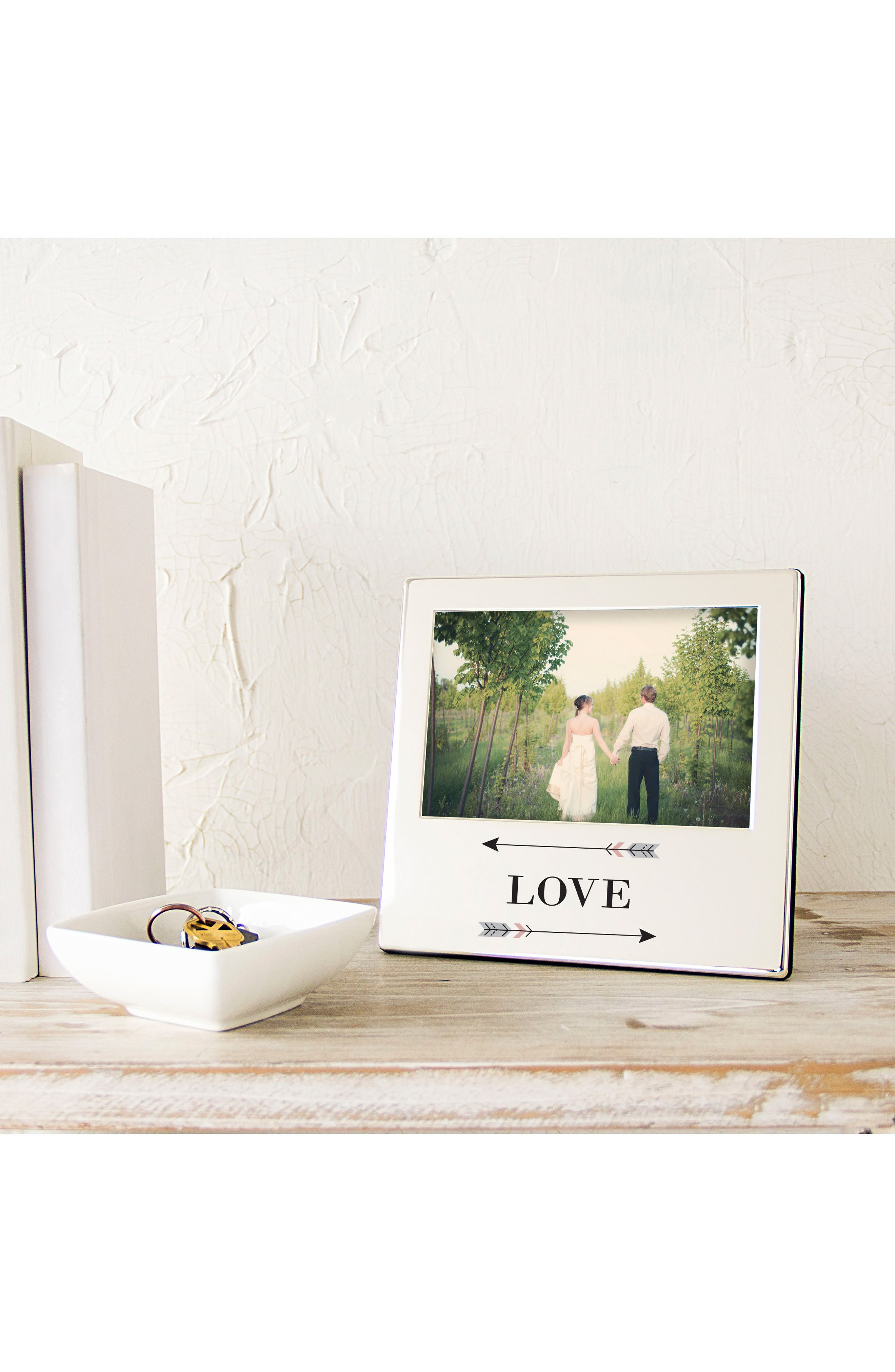 Love Arrows Silver Picture Frame,                             Alternate thumbnail 6, color,                             040