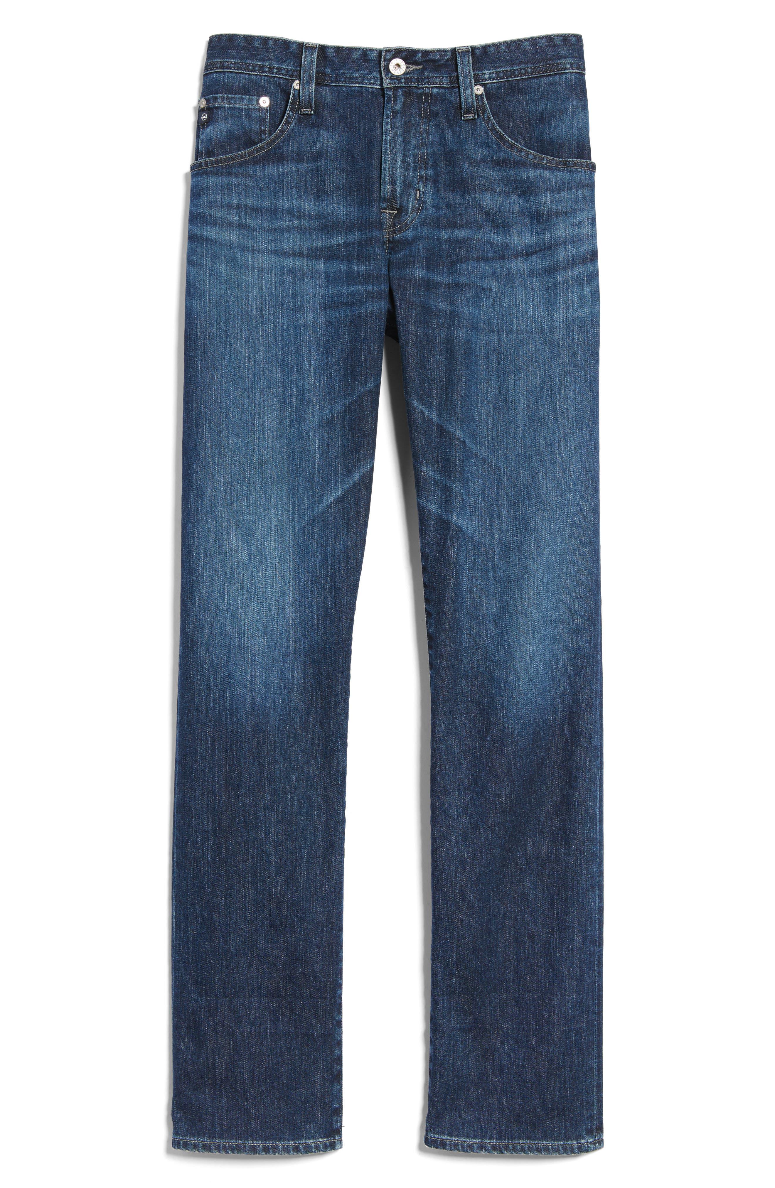 Ives Straight Leg Jeans,                             Alternate thumbnail 6, color,                             438