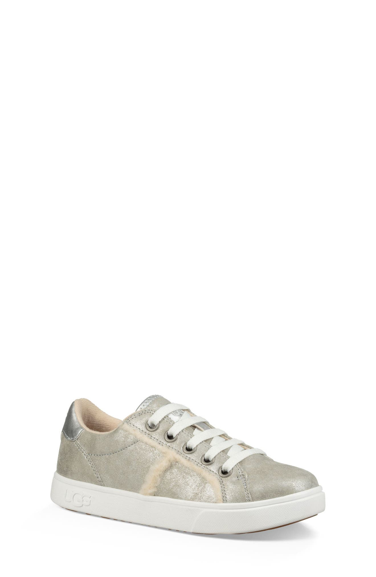 UGG<SUP>®</SUP>,                             Alanna Low Top Sneaker,                             Alternate thumbnail 6, color,                             SILVER