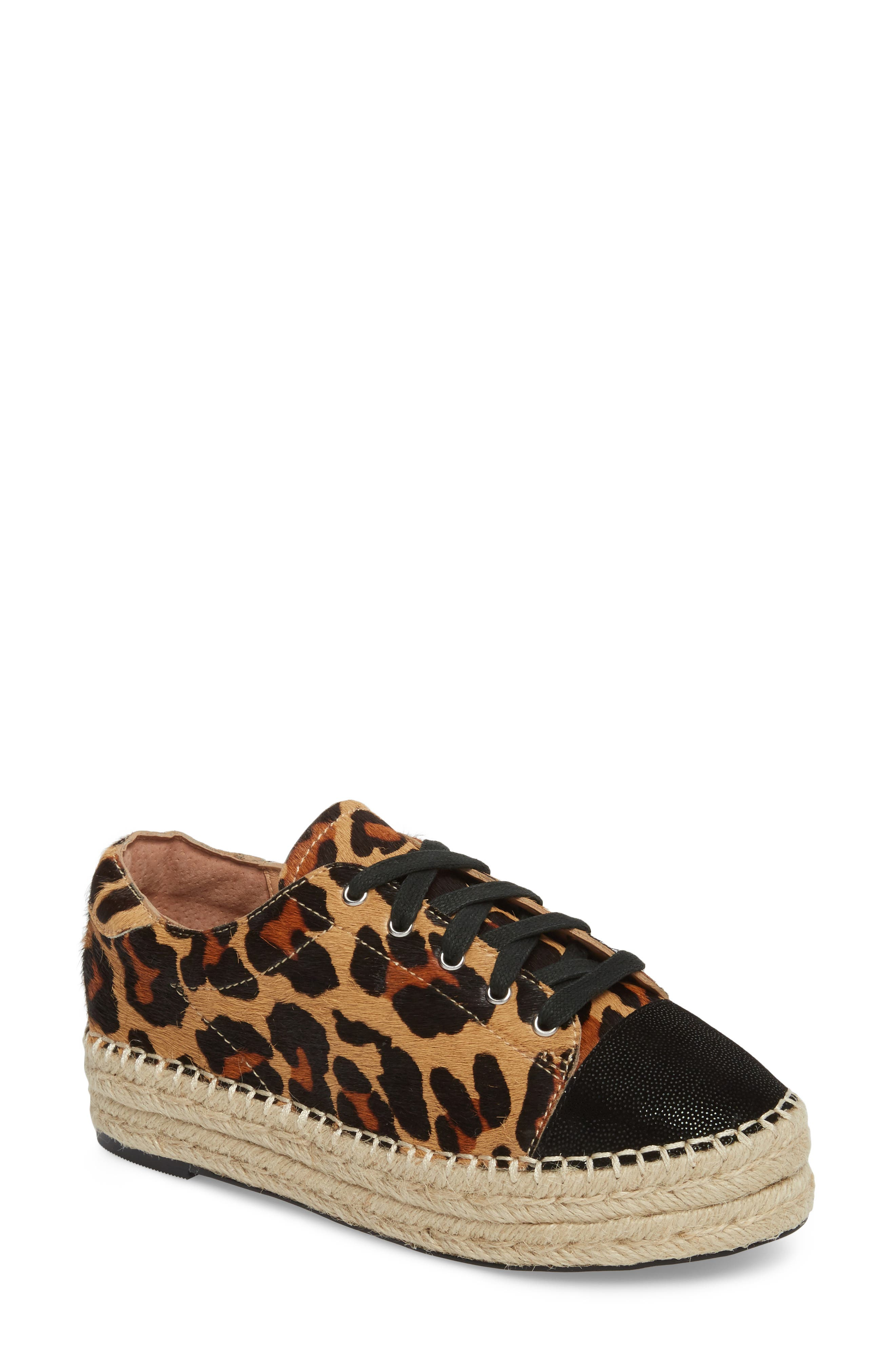 Sierra II Genuine Calf Hair Lace-Up Espadrille,                         Main,                         color, 212