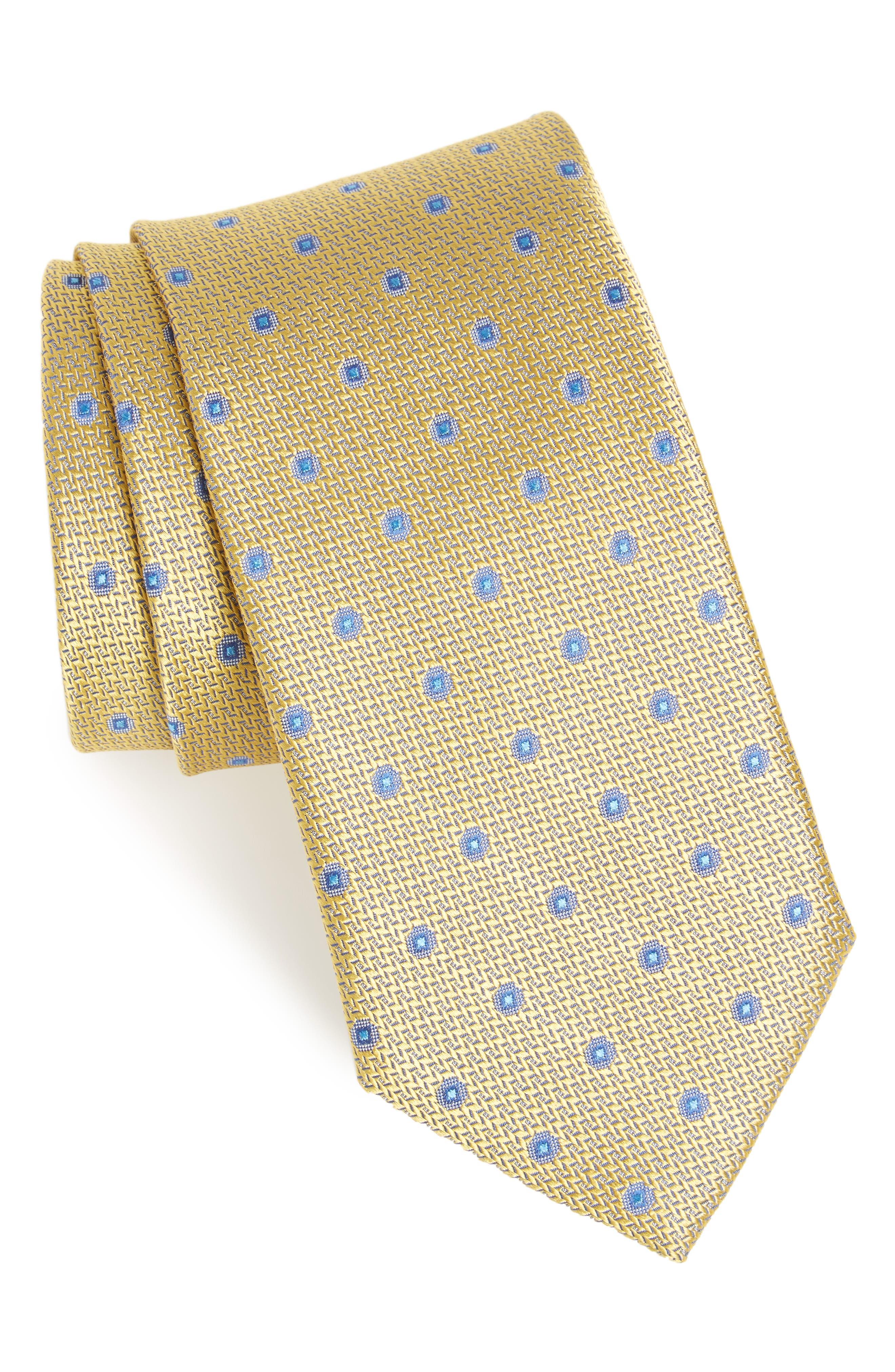 John W. Nordstrom Vermouth Neat Silk Tie,                             Main thumbnail 1, color,