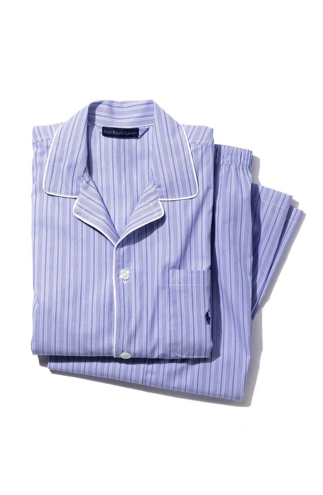 Pajama Top,                             Main thumbnail 1, color,                             BLACK ROYAL OXFORD