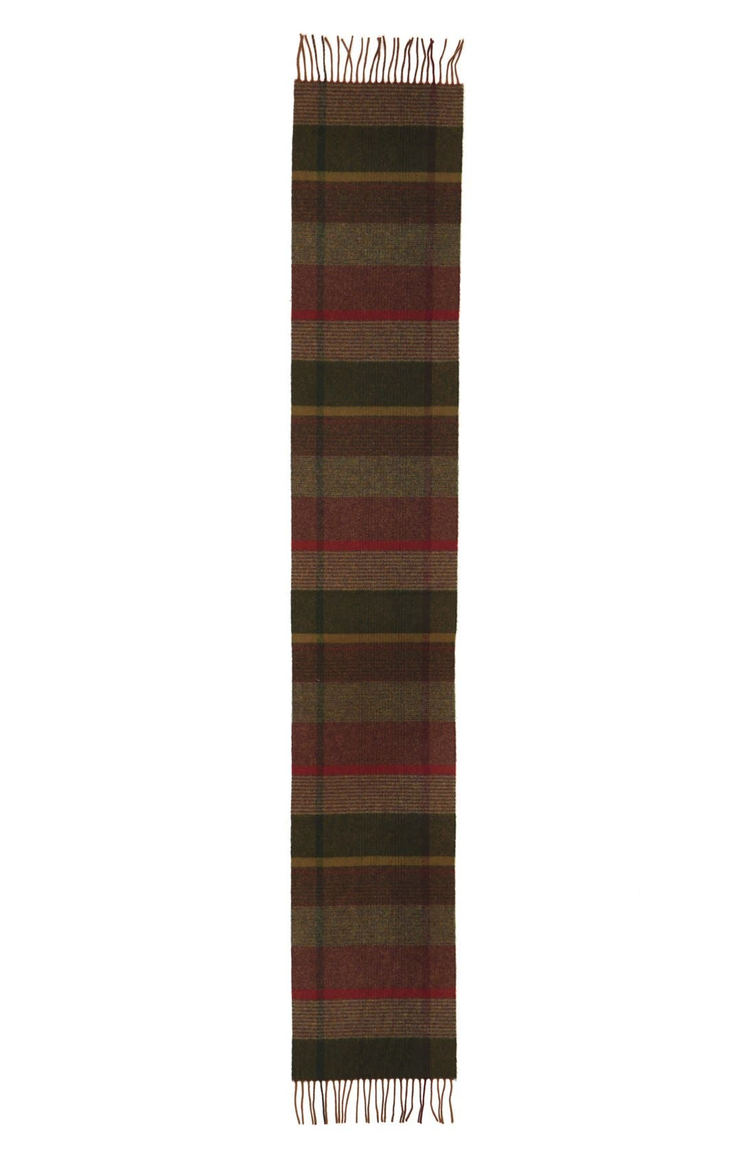 BARBOUR,                             'New Country Plaid' Lambswool Scarf,                             Alternate thumbnail 3, color,                             340
