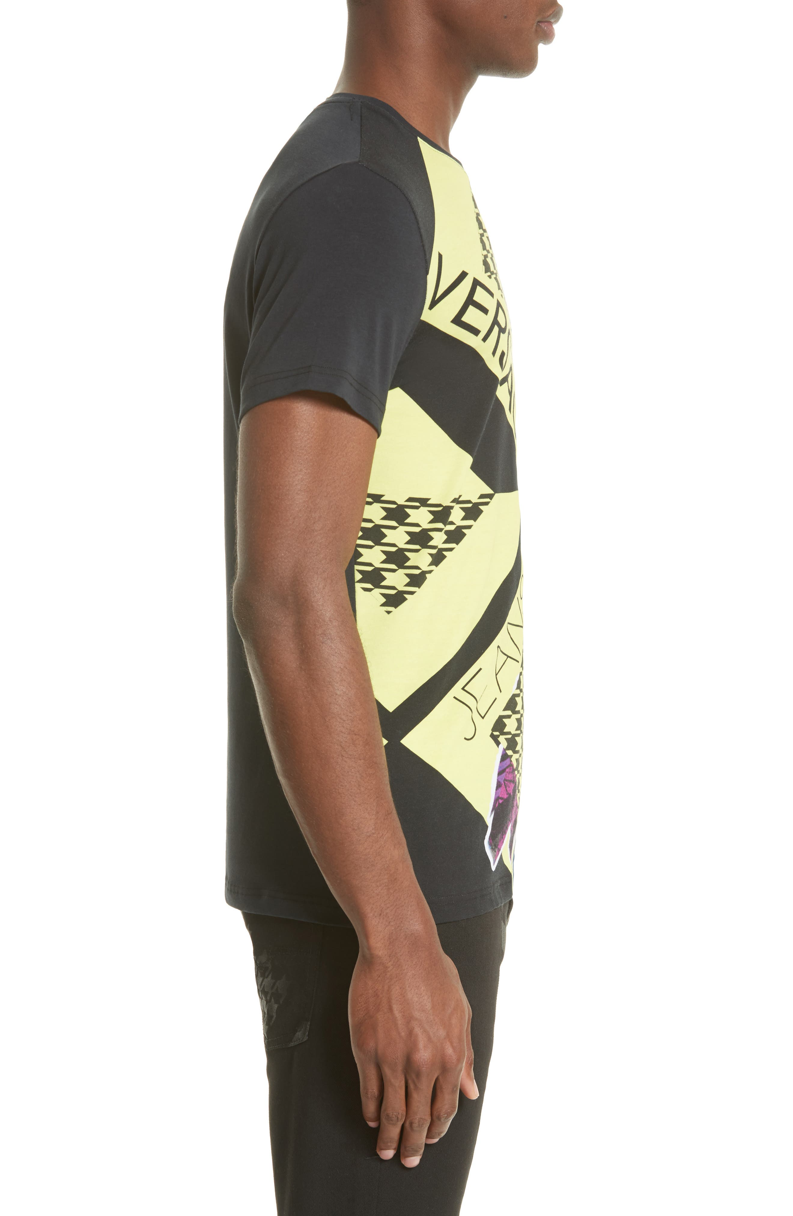 Houndstooth Collage T-Shirt,                             Alternate thumbnail 3, color,                             001