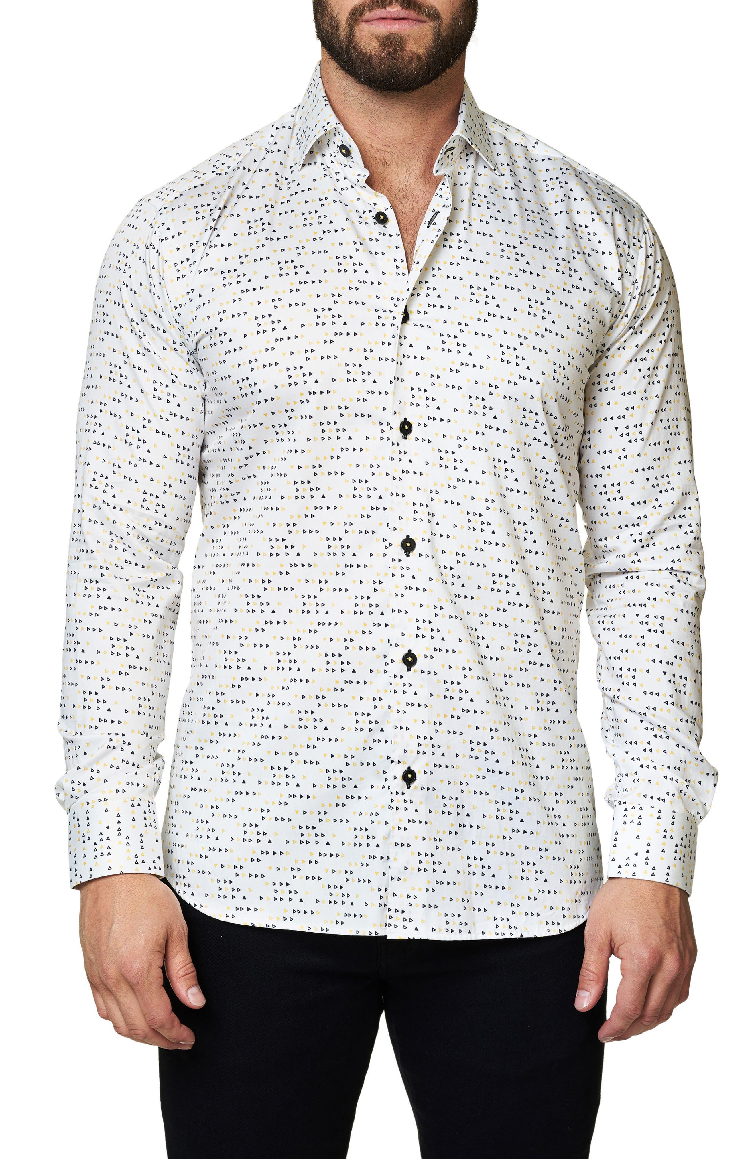 Trim Fit Triangle Print Sport Shirt,                         Main,                         color, 114