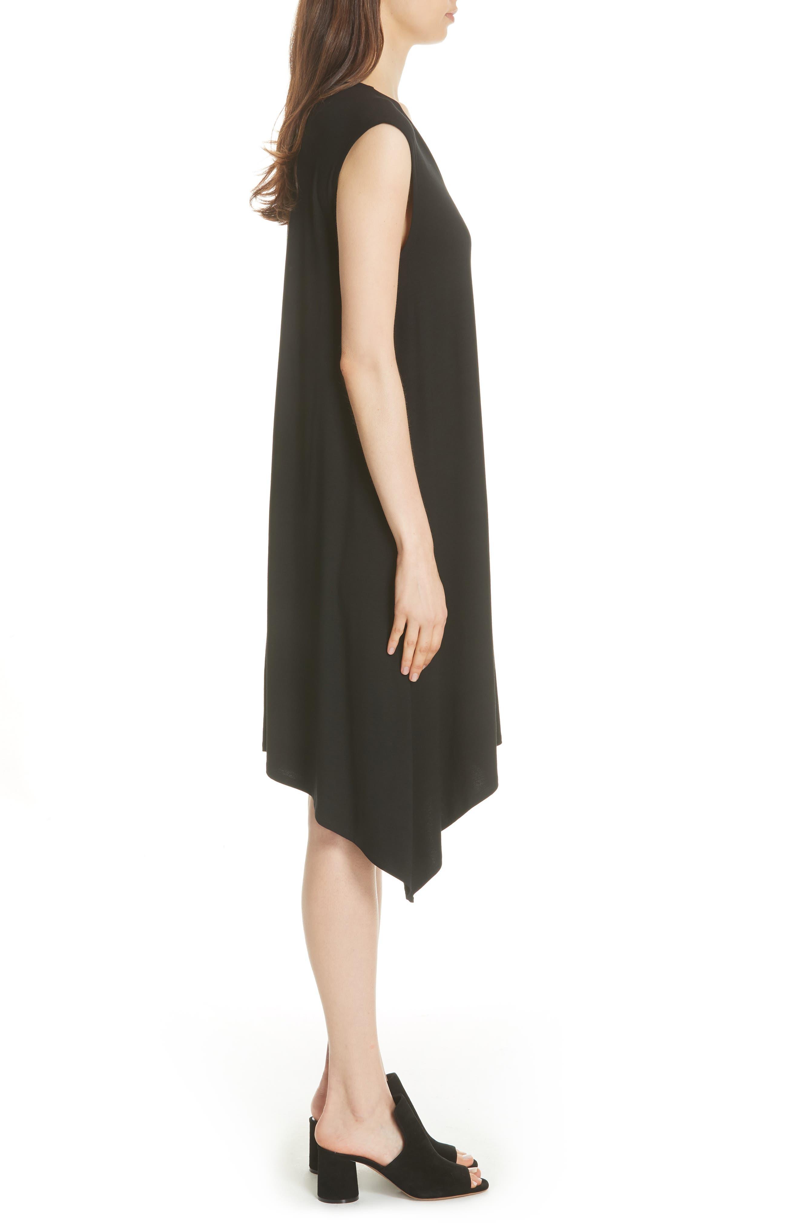 Cutout Jersey Shift Dress,                             Alternate thumbnail 3, color,                             BLACK